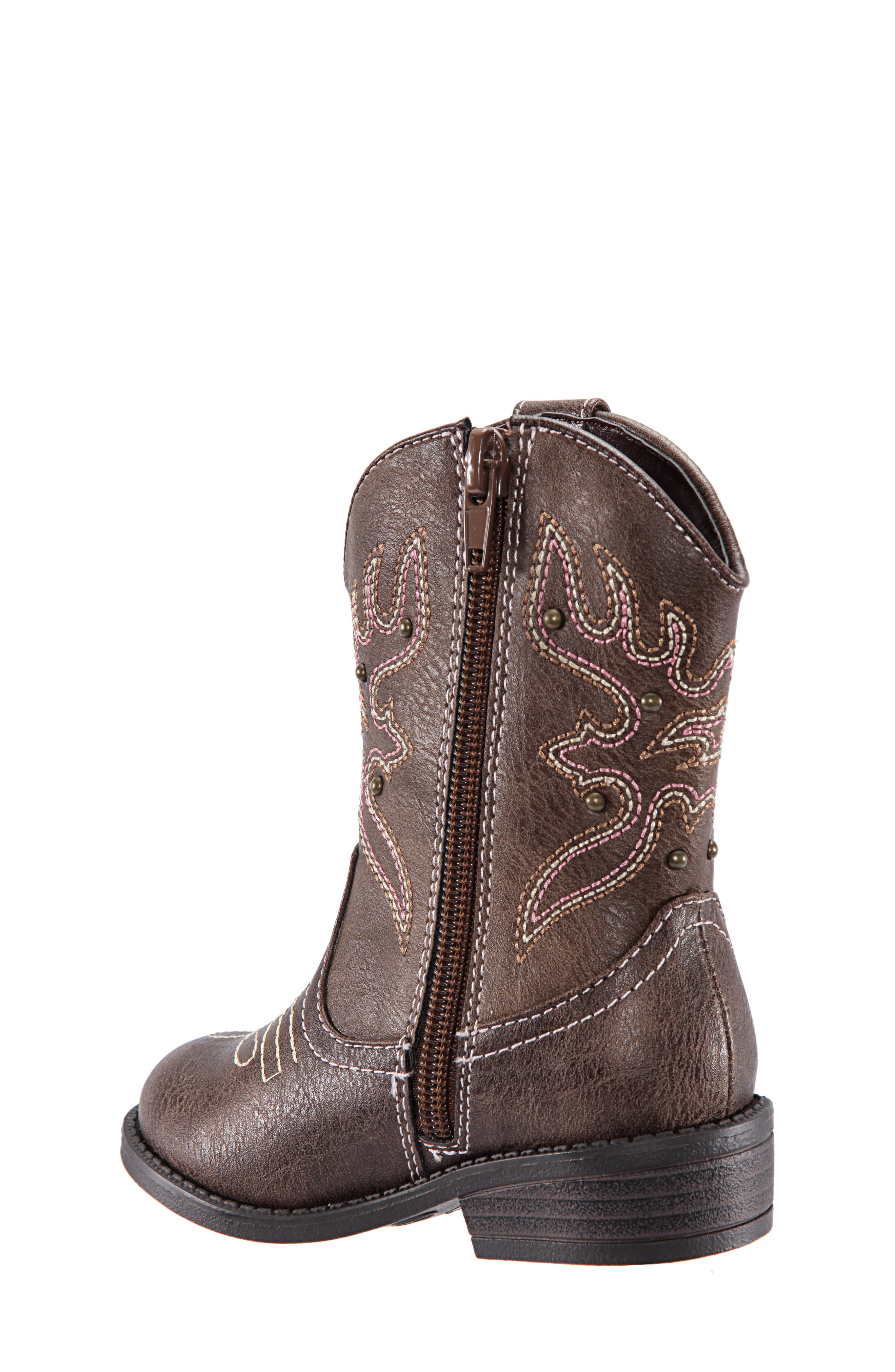Mirabele Cowboy Boot,                             Alternate thumbnail 2, color,                             BROWN