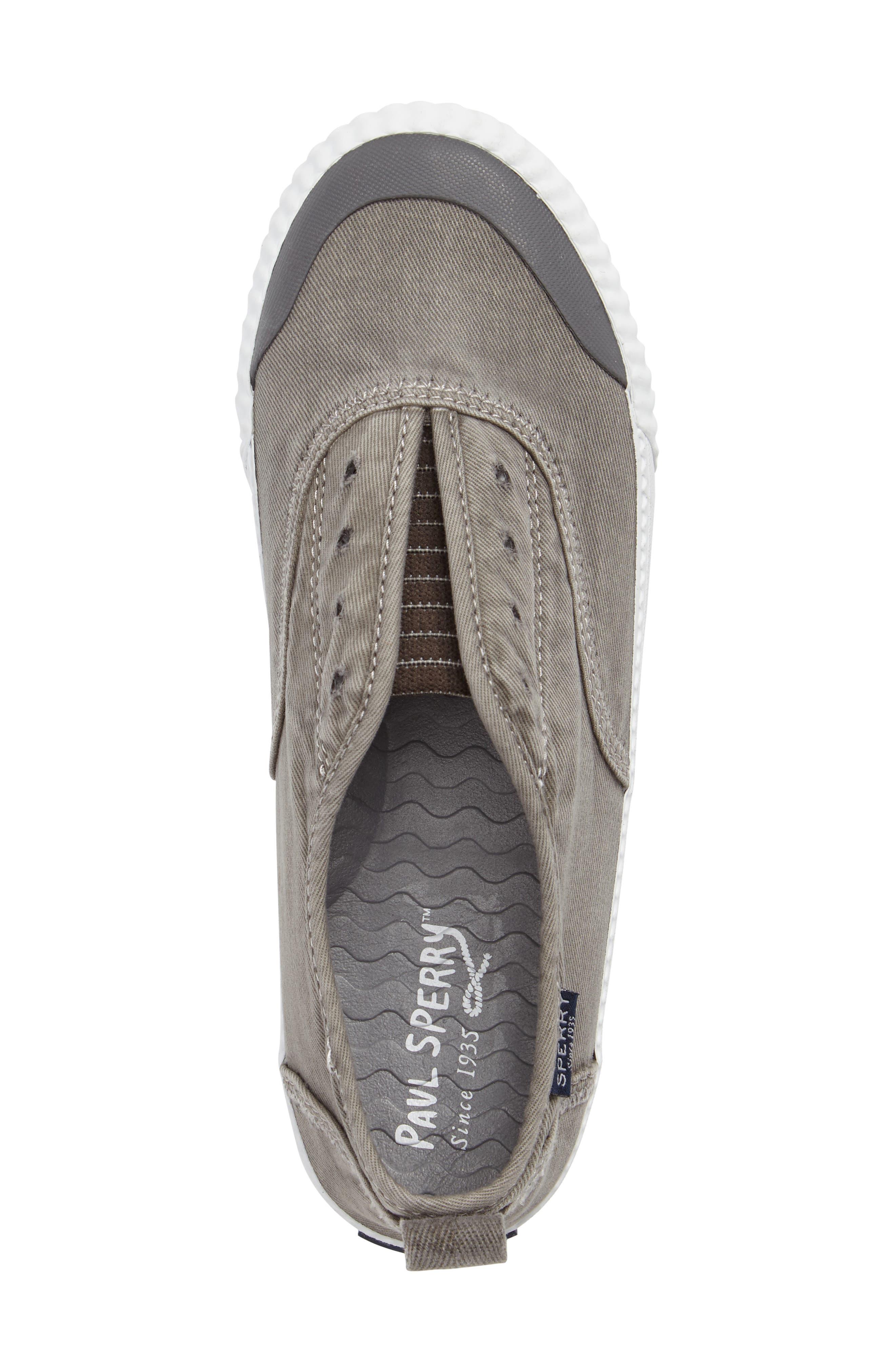 Sayel Slip-On Sneaker,                             Alternate thumbnail 5, color,                             GREY FABRIC