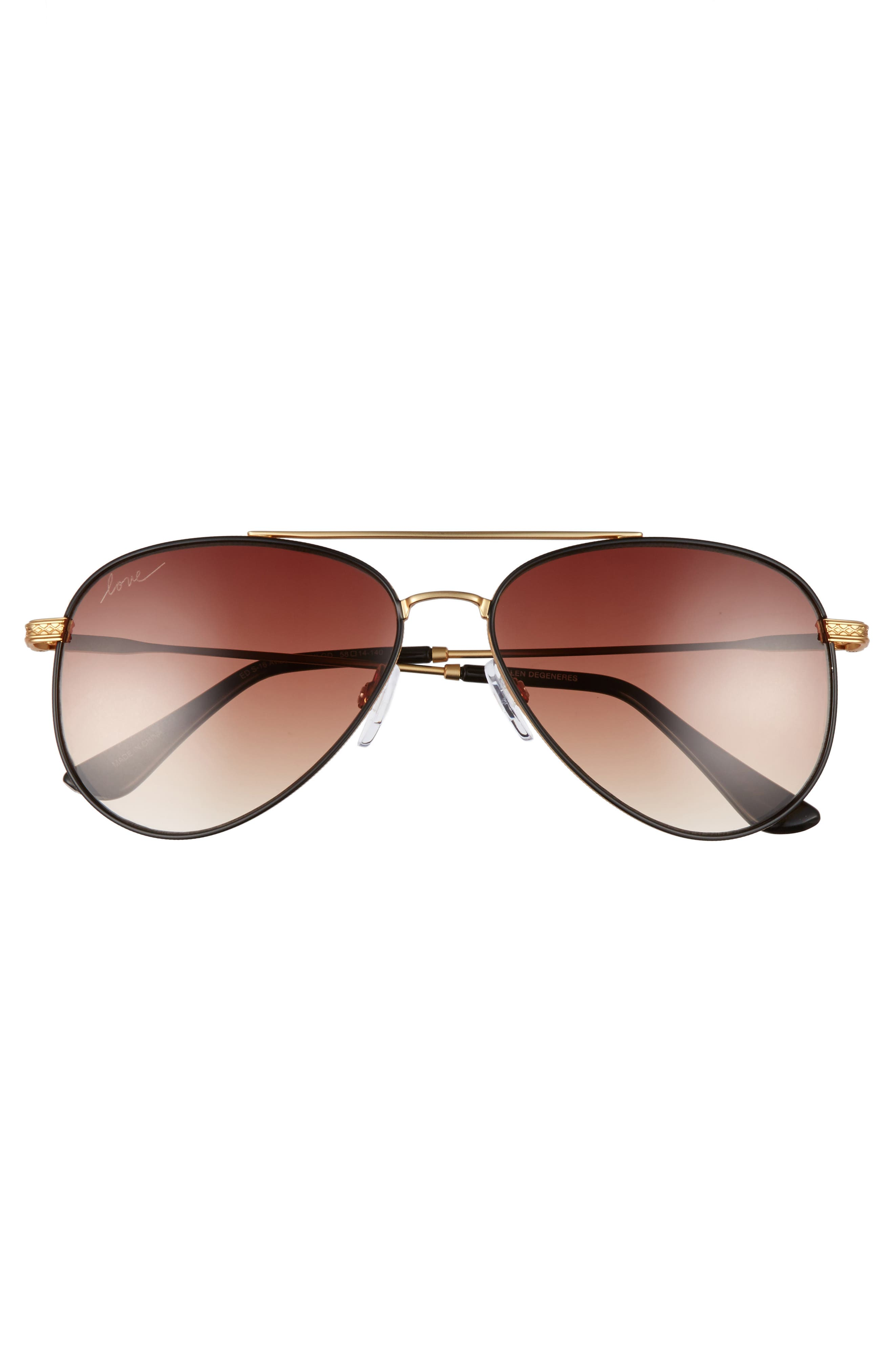 58mm Aviator Sunglasses,                             Alternate thumbnail 9, color,