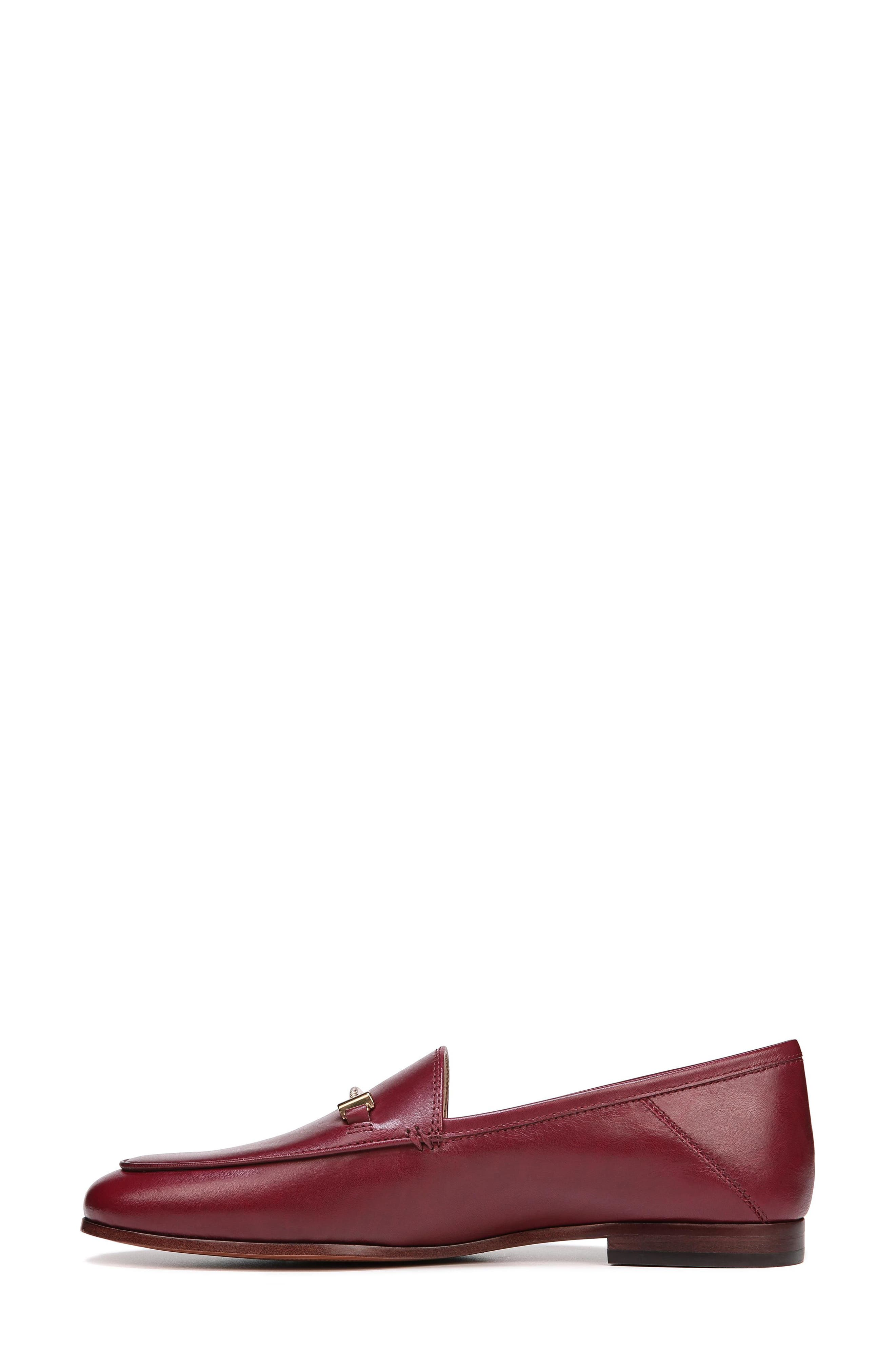 Lior Loafer,                             Alternate thumbnail 3, color,                             BEET RED LEATHER