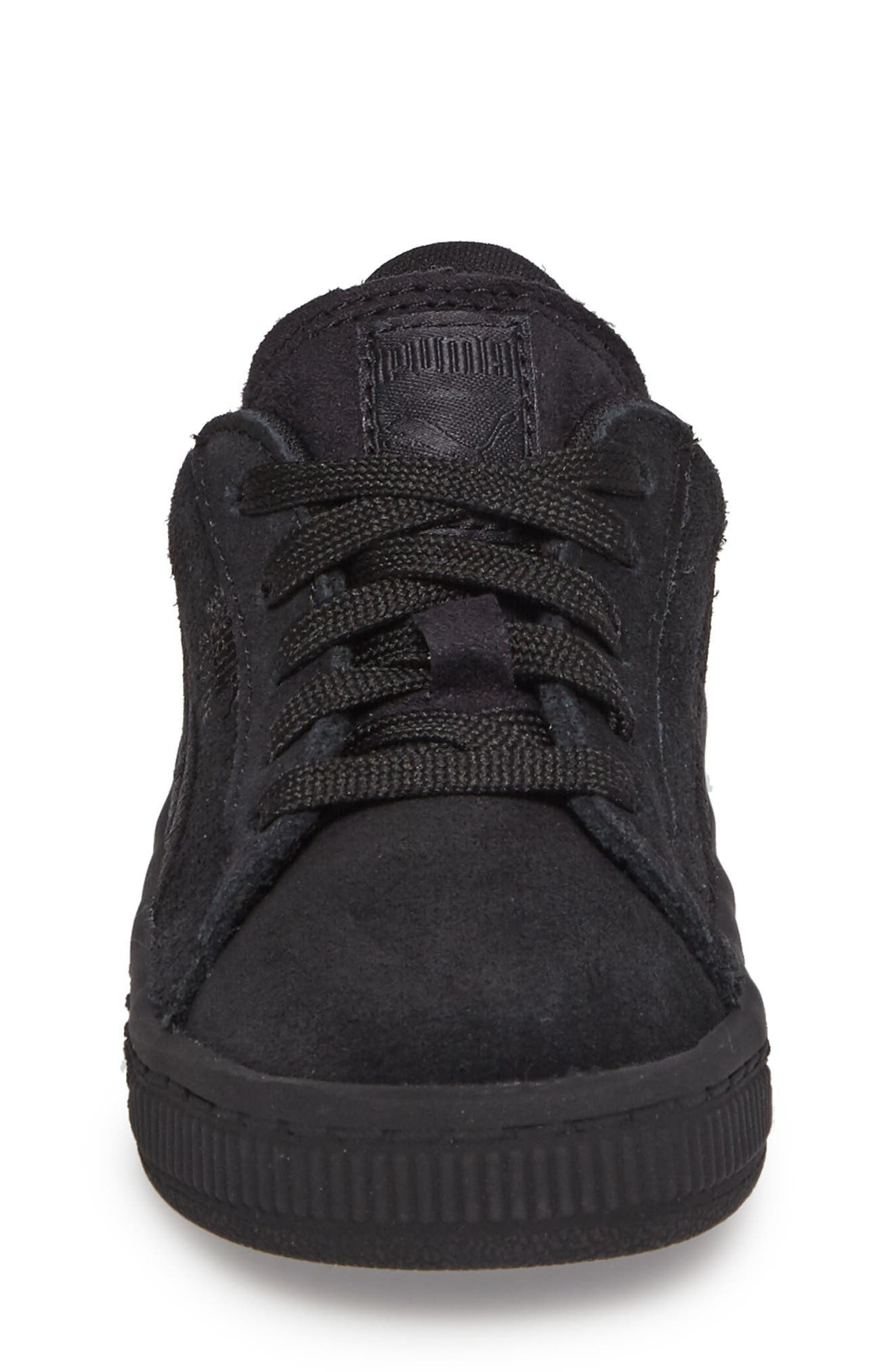 Suede Classic Sneaker,                             Alternate thumbnail 4, color,                             001