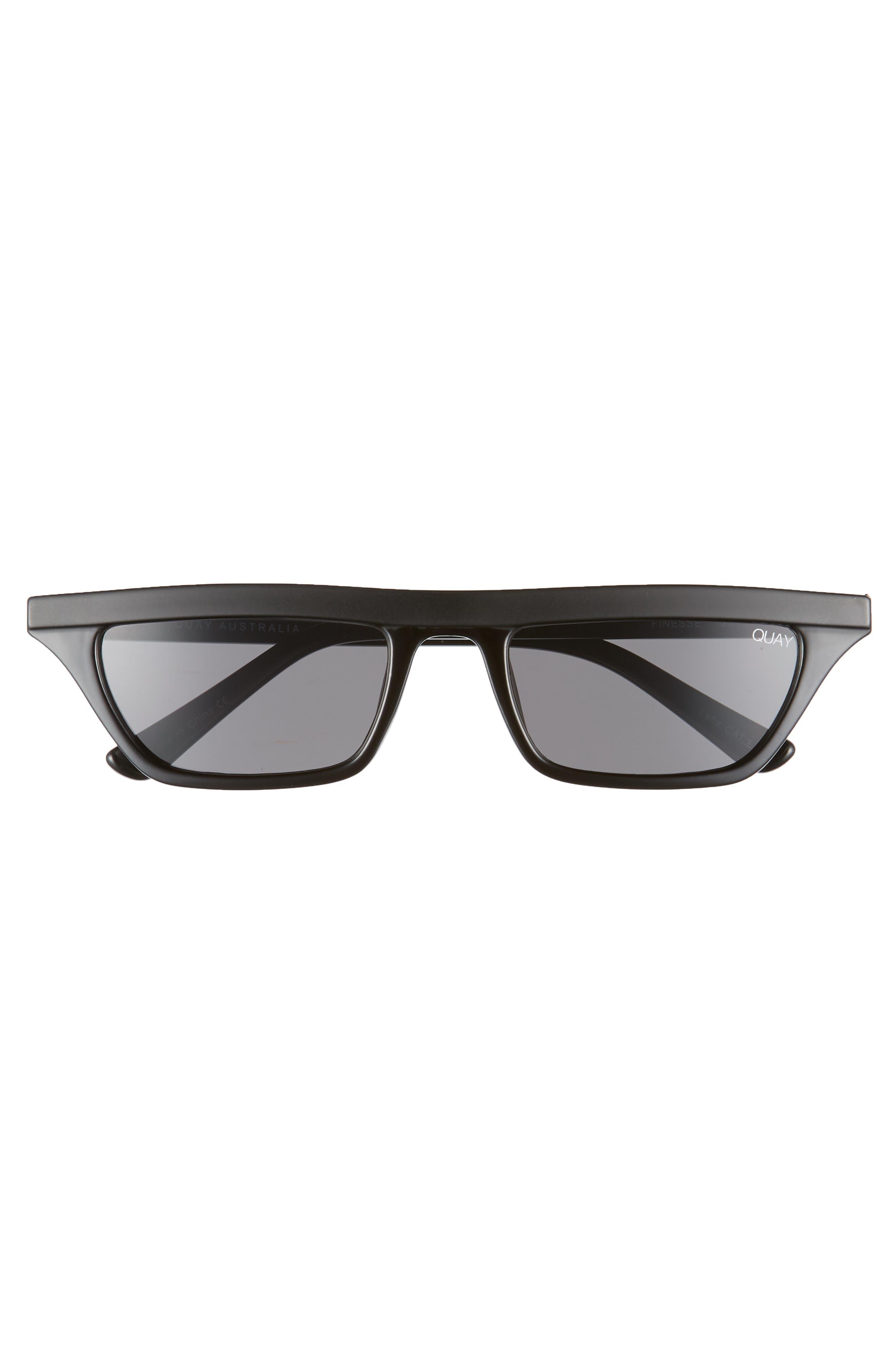 Finesse 52mm Sunglasses,                             Alternate thumbnail 3, color,                             BLACK/ SMOKE