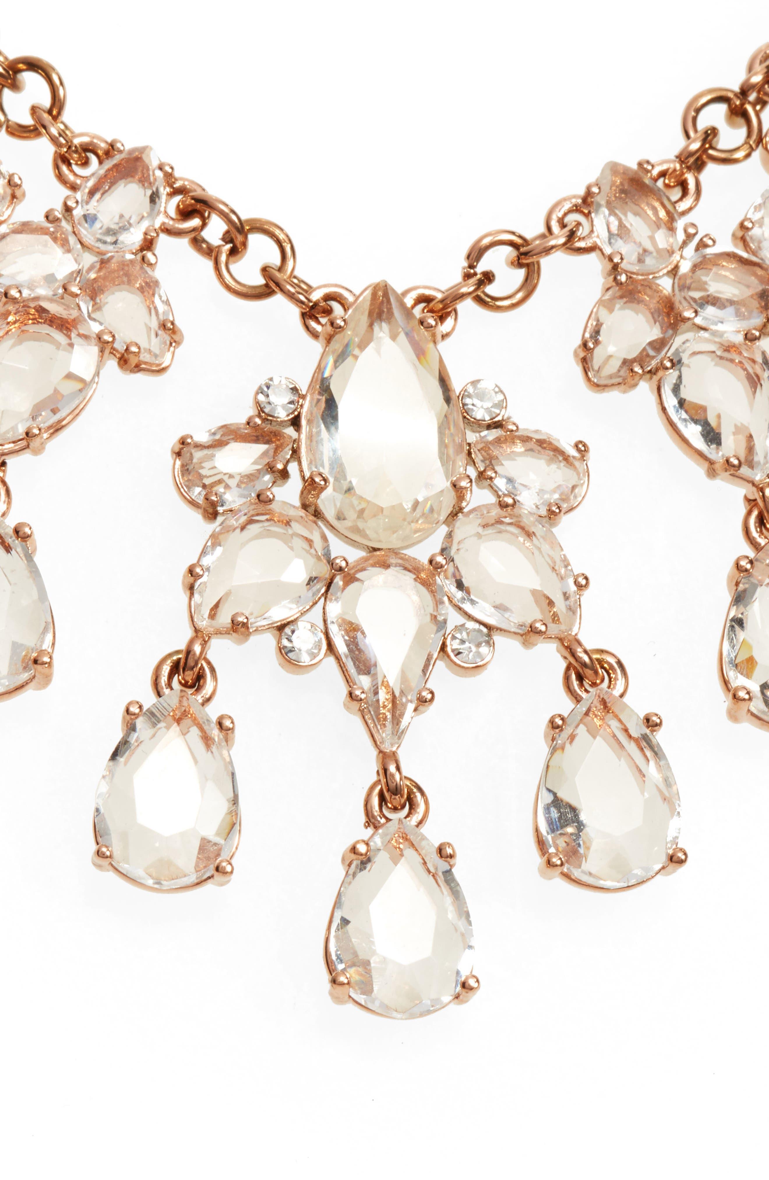 glitzy collar necklace,                         Main,                         color, 650