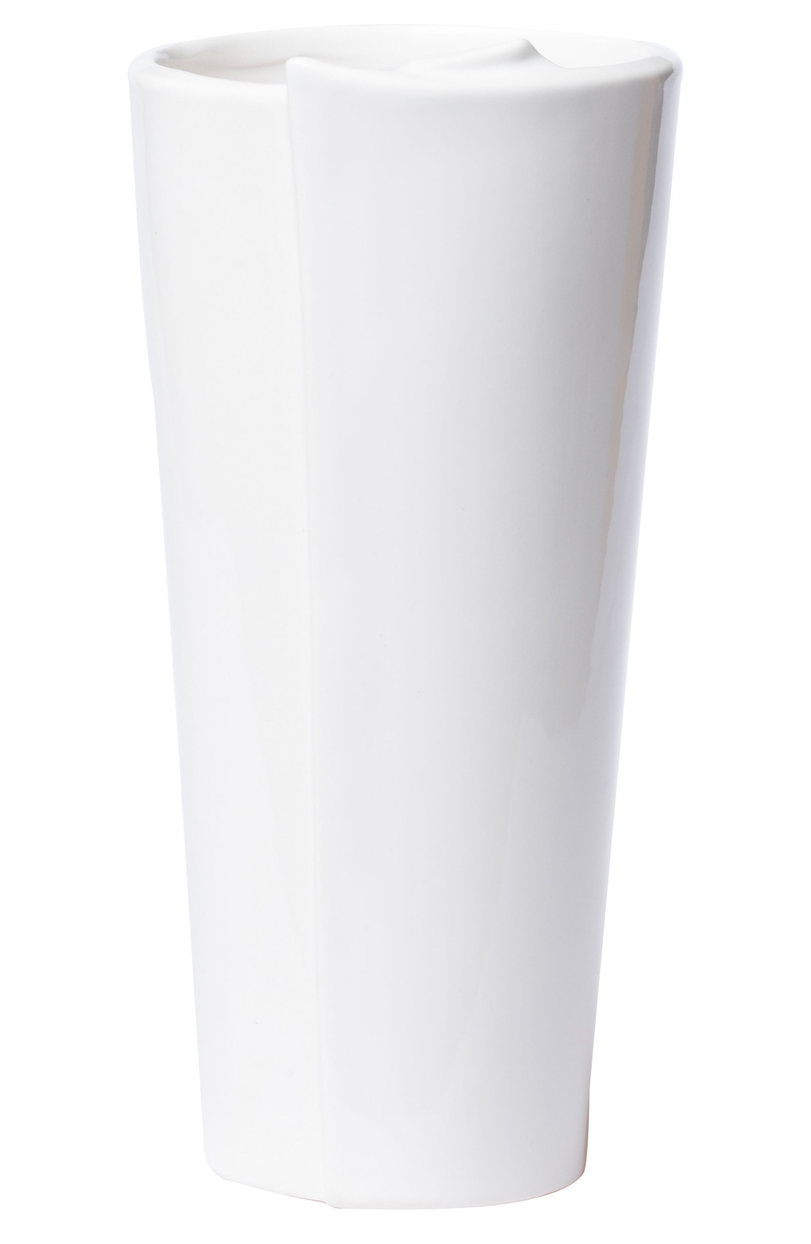 Lastra Large Conical Vase,                             Main thumbnail 1, color,                             WHITE
