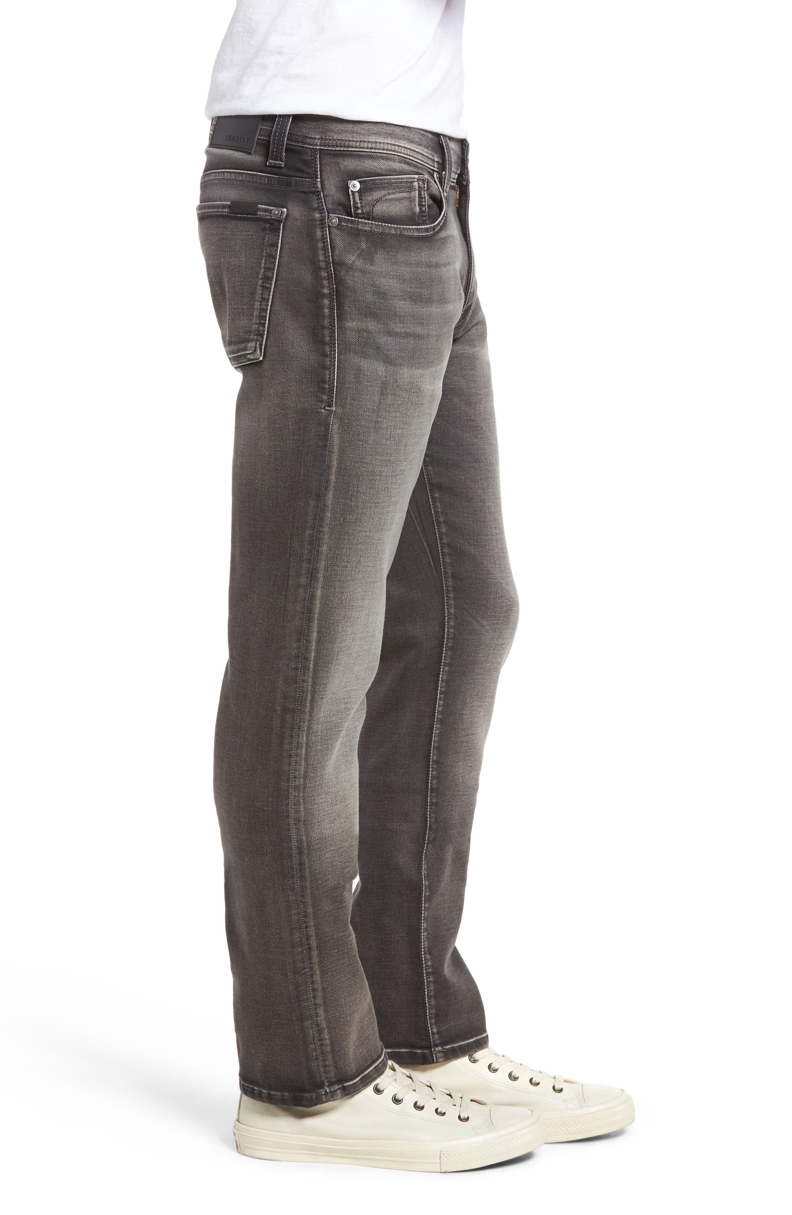 Fidelity Jimmy Slim Fit Jeans,                             Alternate thumbnail 3, color,                             001