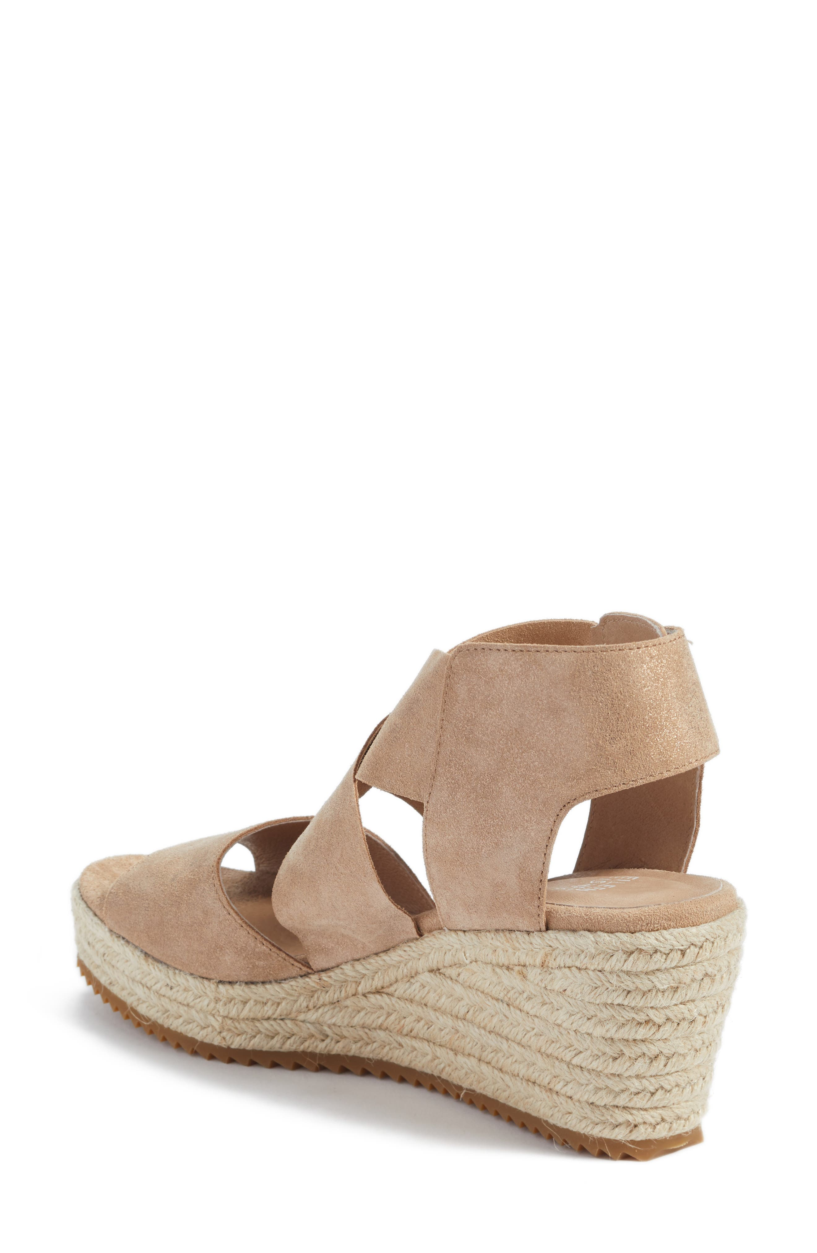 'Willow' Espadrille Wedge Sandal,                             Alternate thumbnail 2, color,                             LIGHT GOLD STARRY LEATHER