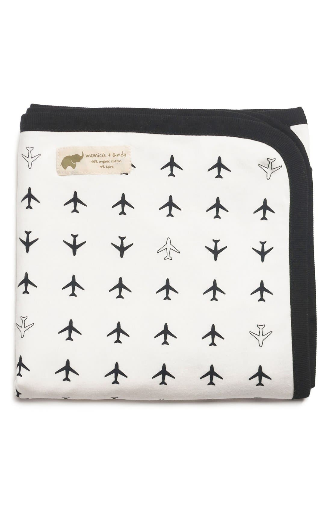 'Coming Home' Organic Cotton Blanket,                             Main thumbnail 1, color,                             001