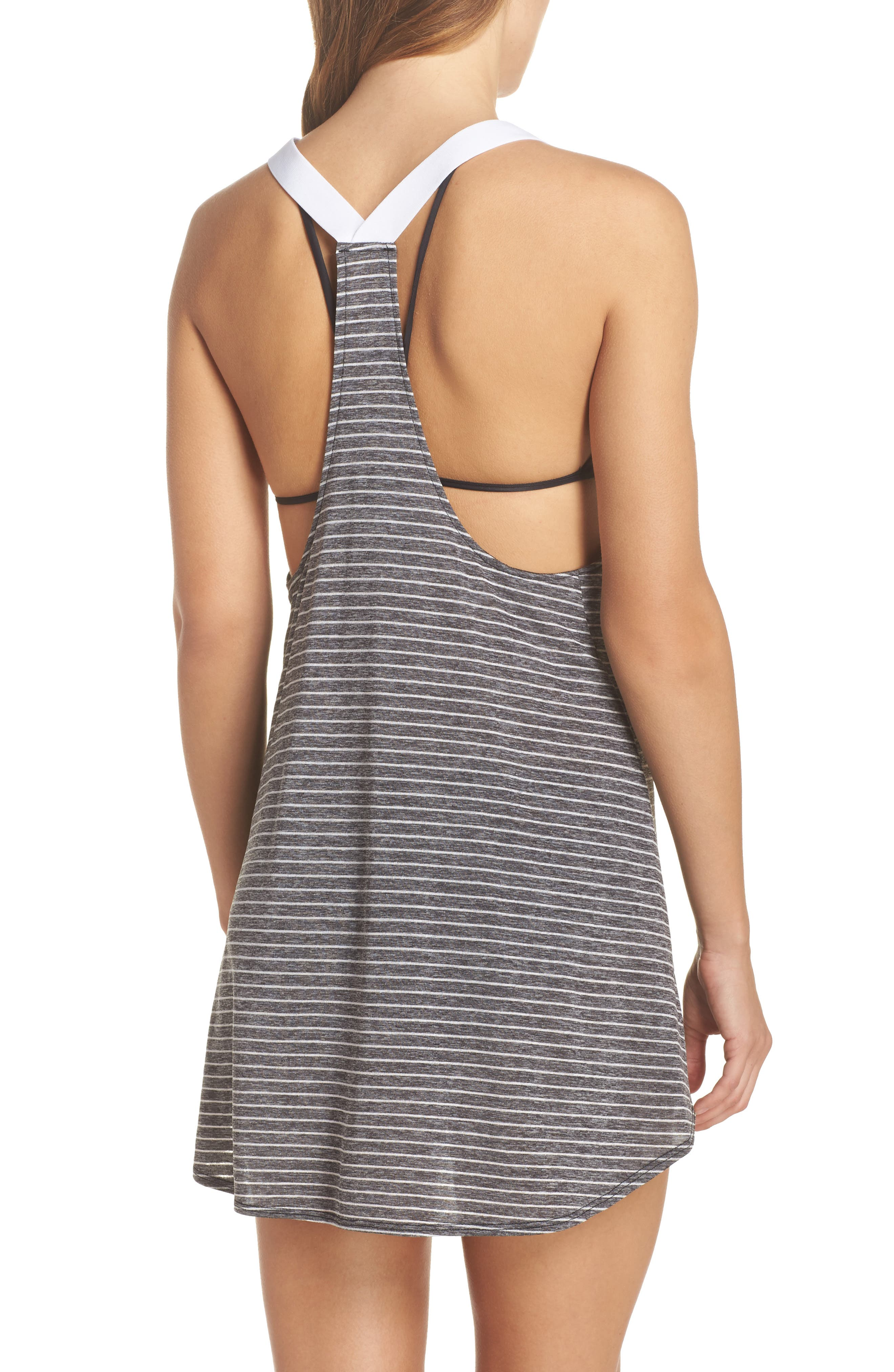 NIKE,                             Swim Cover-Up Dress,                             Alternate thumbnail 2, color,                             001