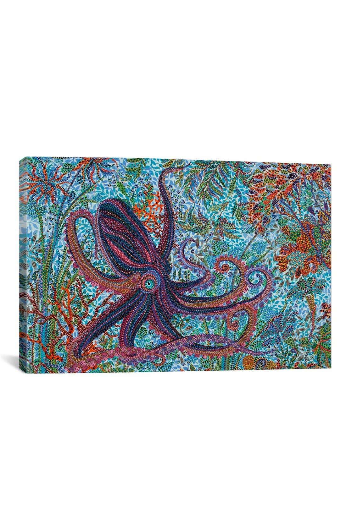 'Octopus - Ebova' Giclée Print Canvas Art,                             Main thumbnail 1, color,