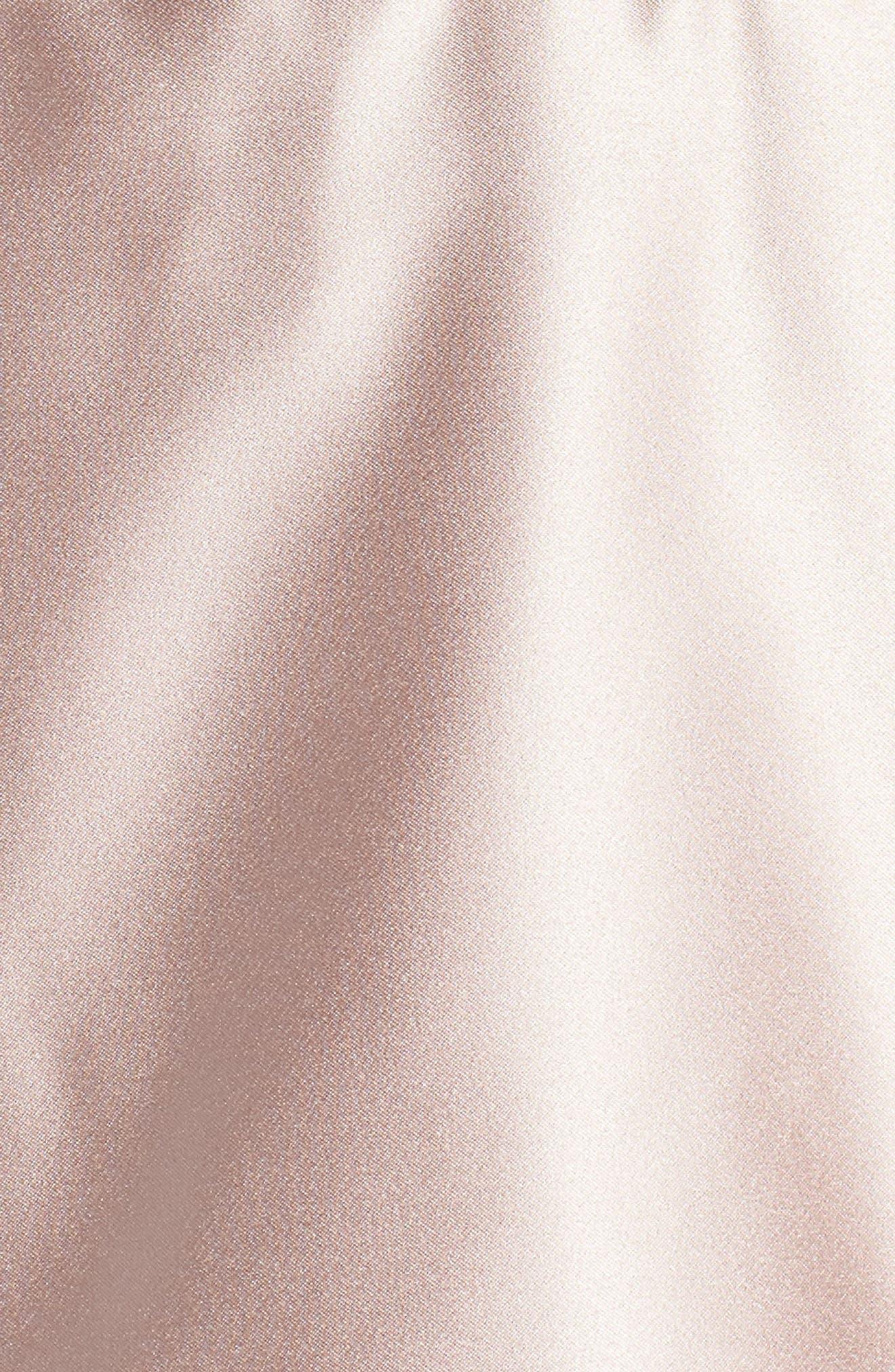 BLONDIE NITES,                             Embellished Satin Fit & Flare Dress,                             Alternate thumbnail 6, color,                             BEIGE