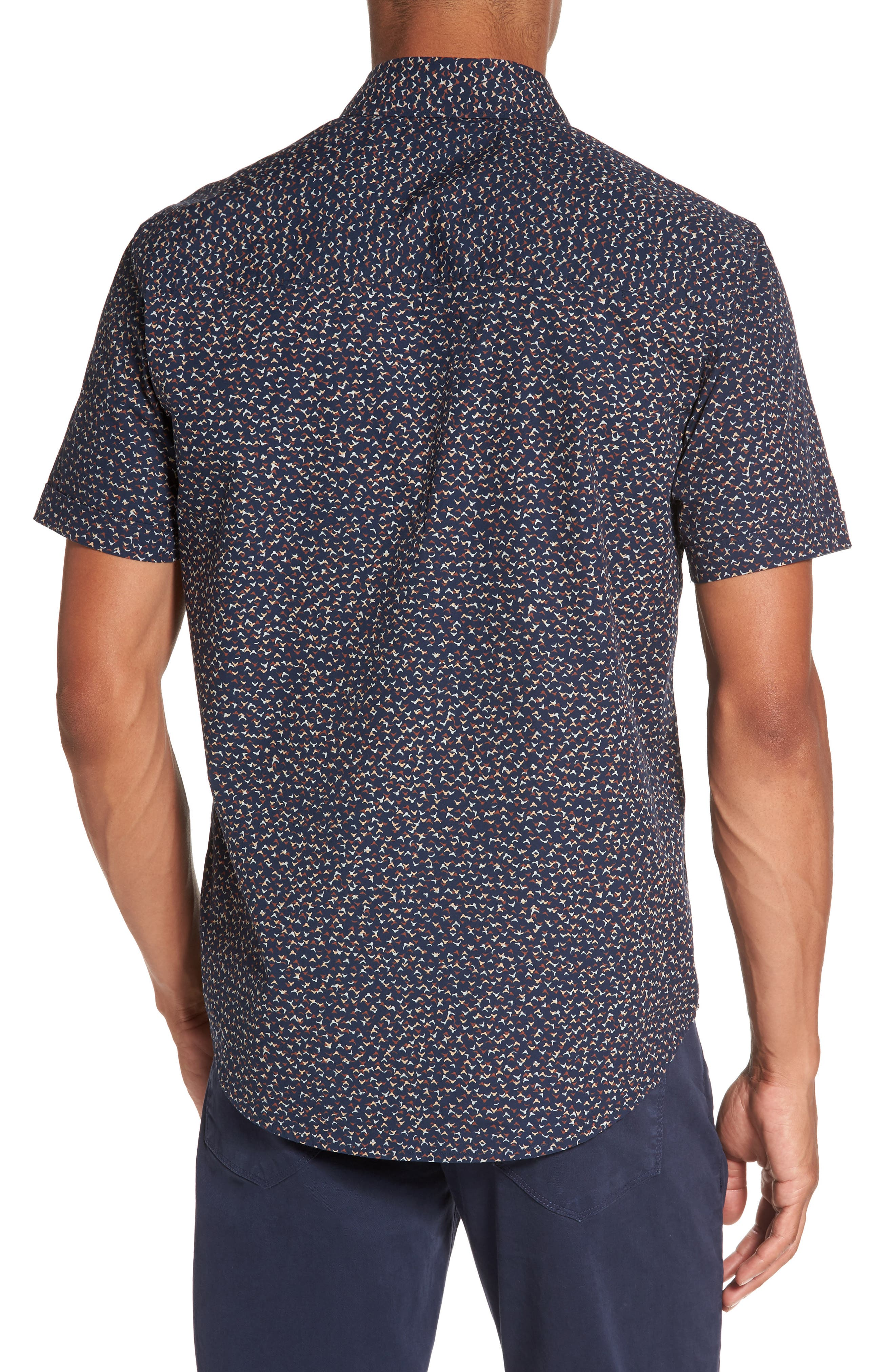 Becker Patterned Woven Shirt,                             Alternate thumbnail 2, color,                             400