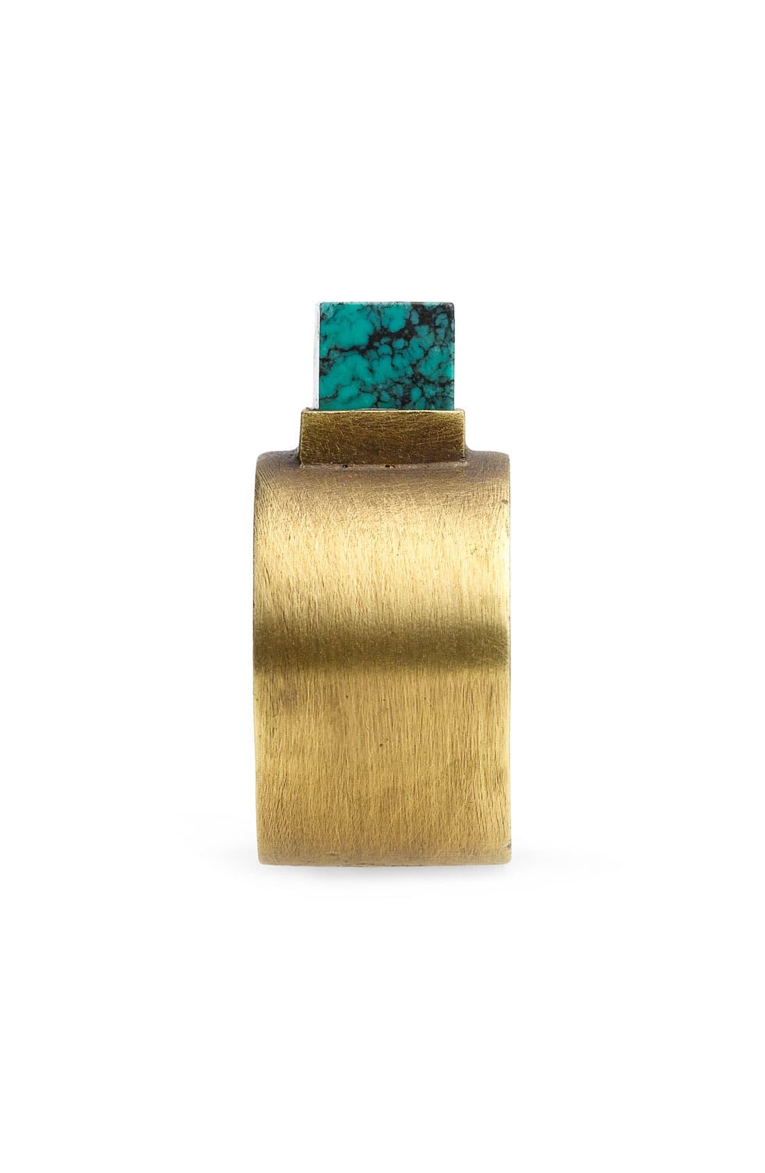 KELLY WEARSTLER,                             Turquoise Stud Ring,                             Alternate thumbnail 2, color,                             220