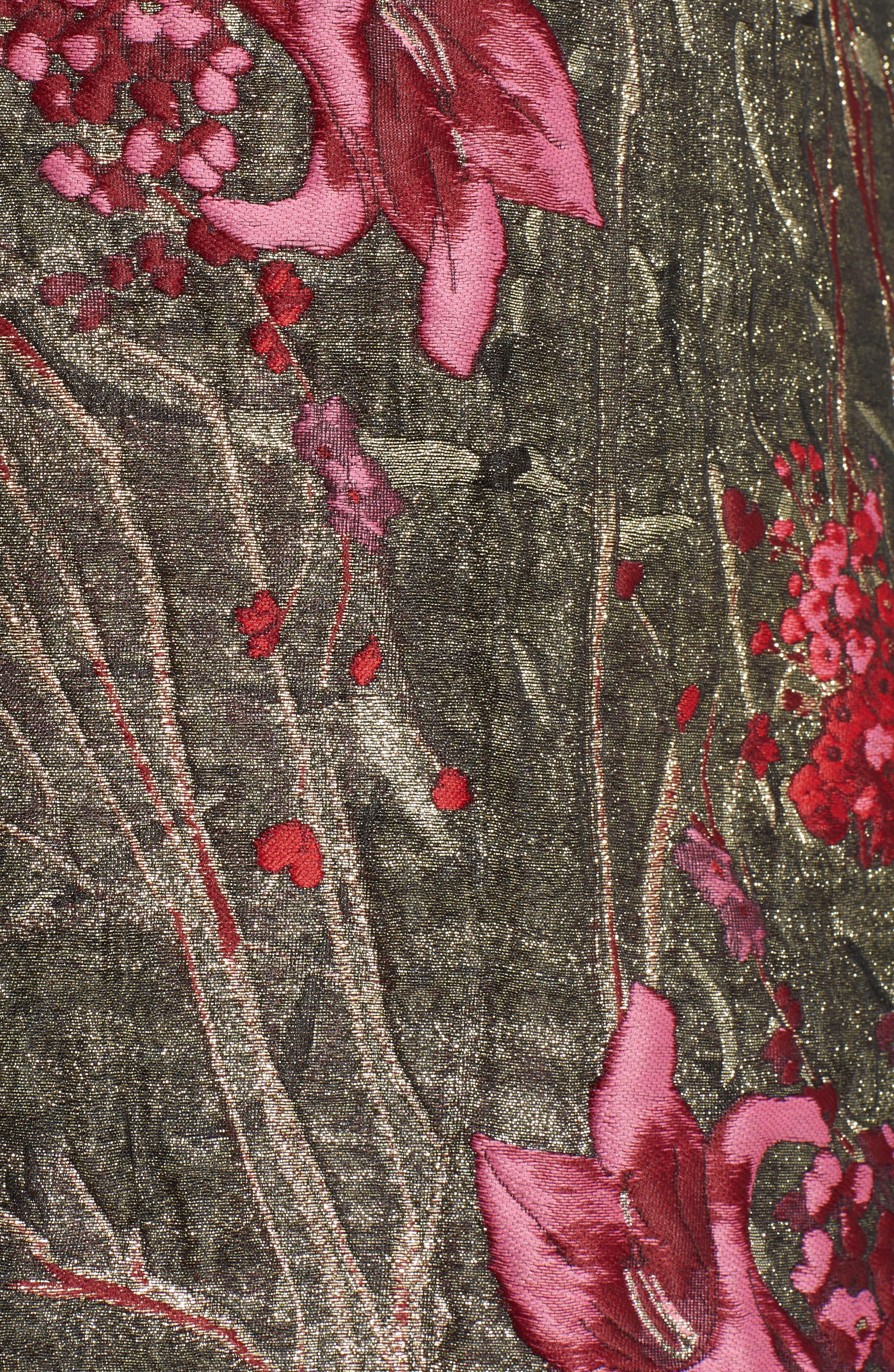 Metallic Jacquard Miniskirt,                             Alternate thumbnail 5, color,                             600