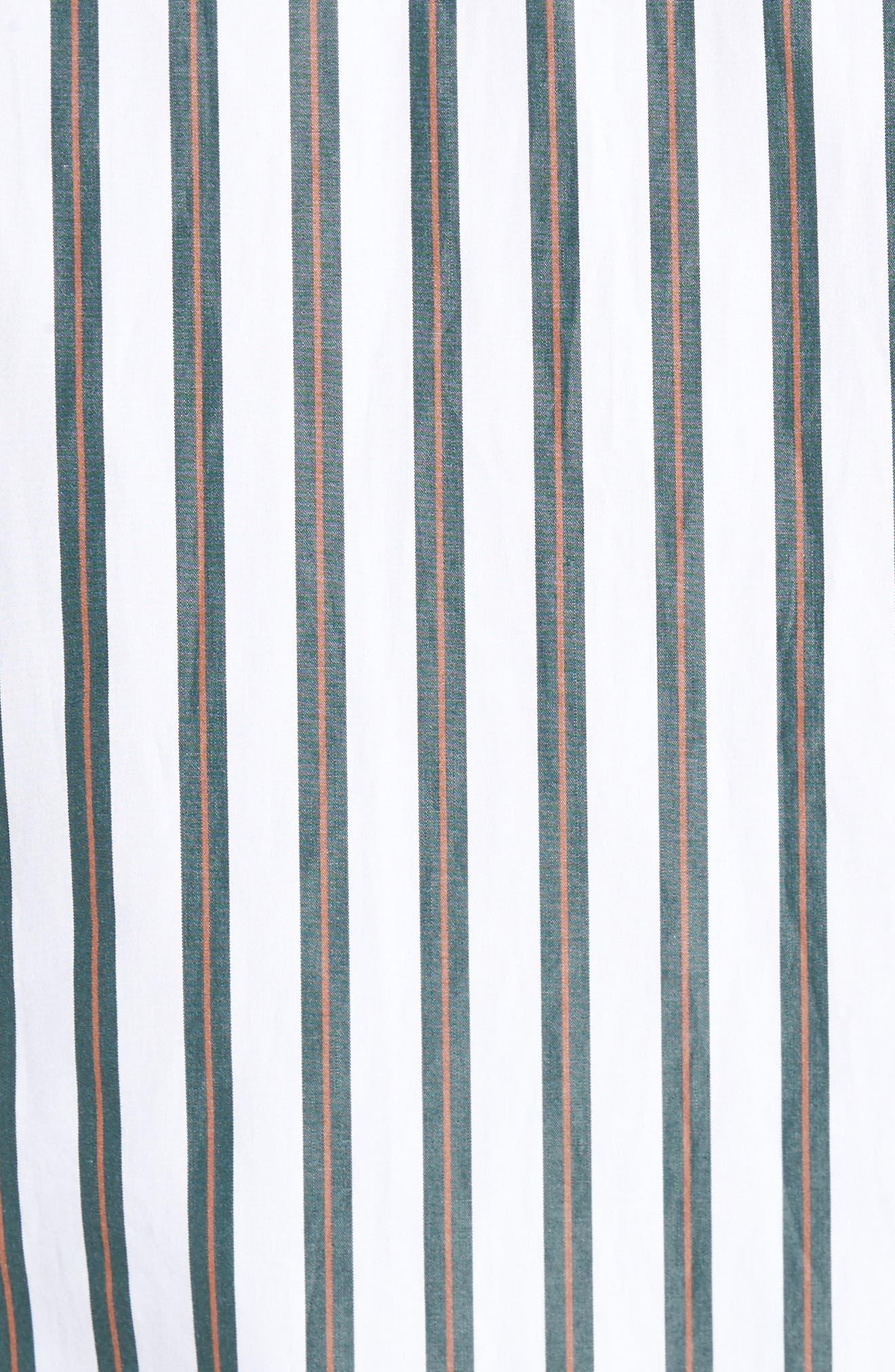 Stripe Sport Shirt,                             Alternate thumbnail 5, color,                             100