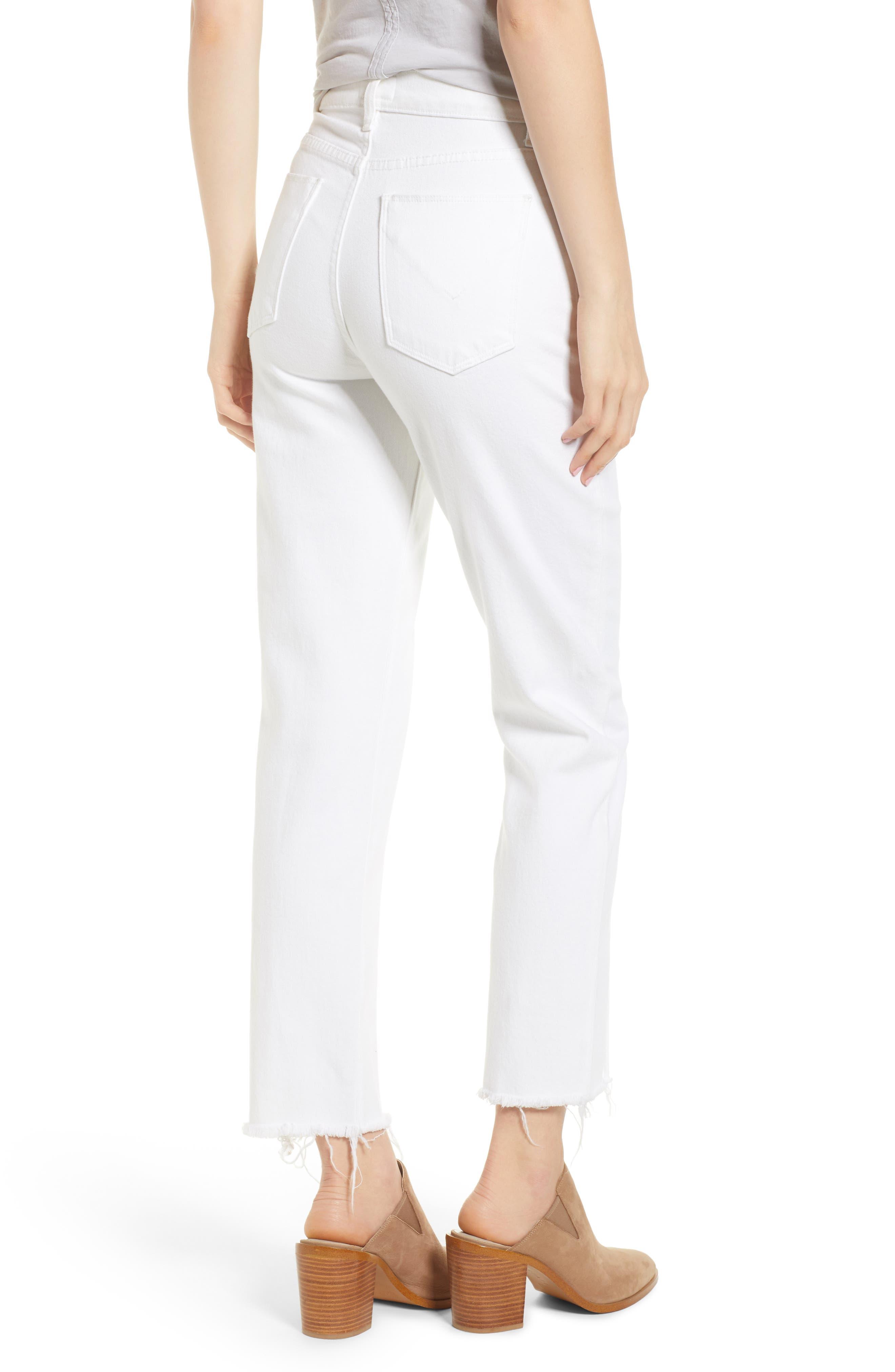 Zoeey Pintuck High Waist Crop Straight Leg Jeans,                             Alternate thumbnail 2, color,                             120