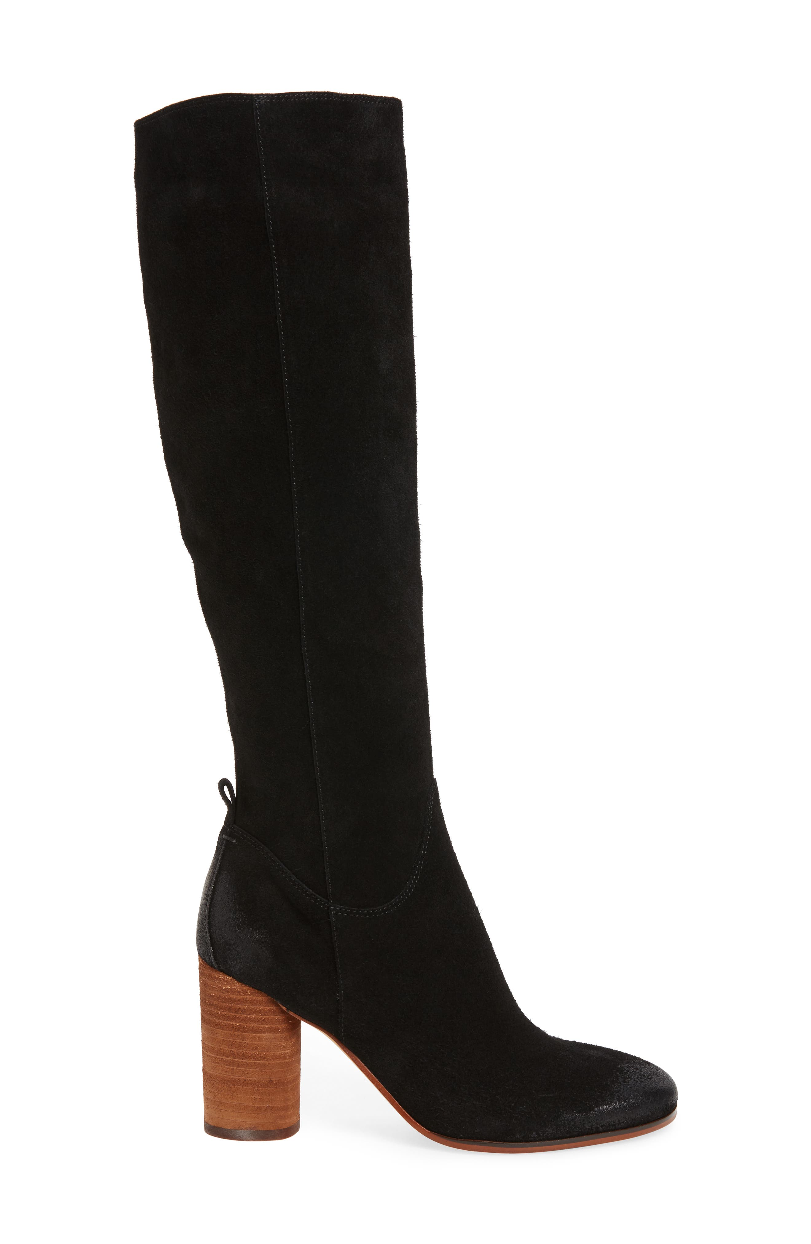 Camellia Tall Boot,                             Alternate thumbnail 3, color,                             002