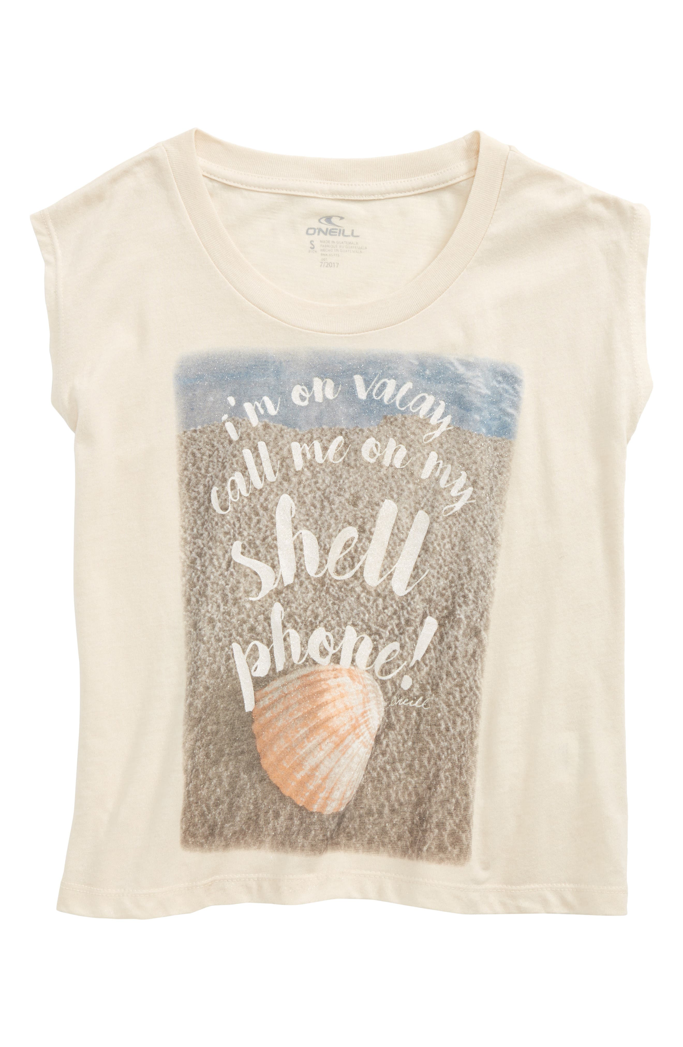 Shell Phone Graphic Print Tee,                             Alternate thumbnail 2, color,