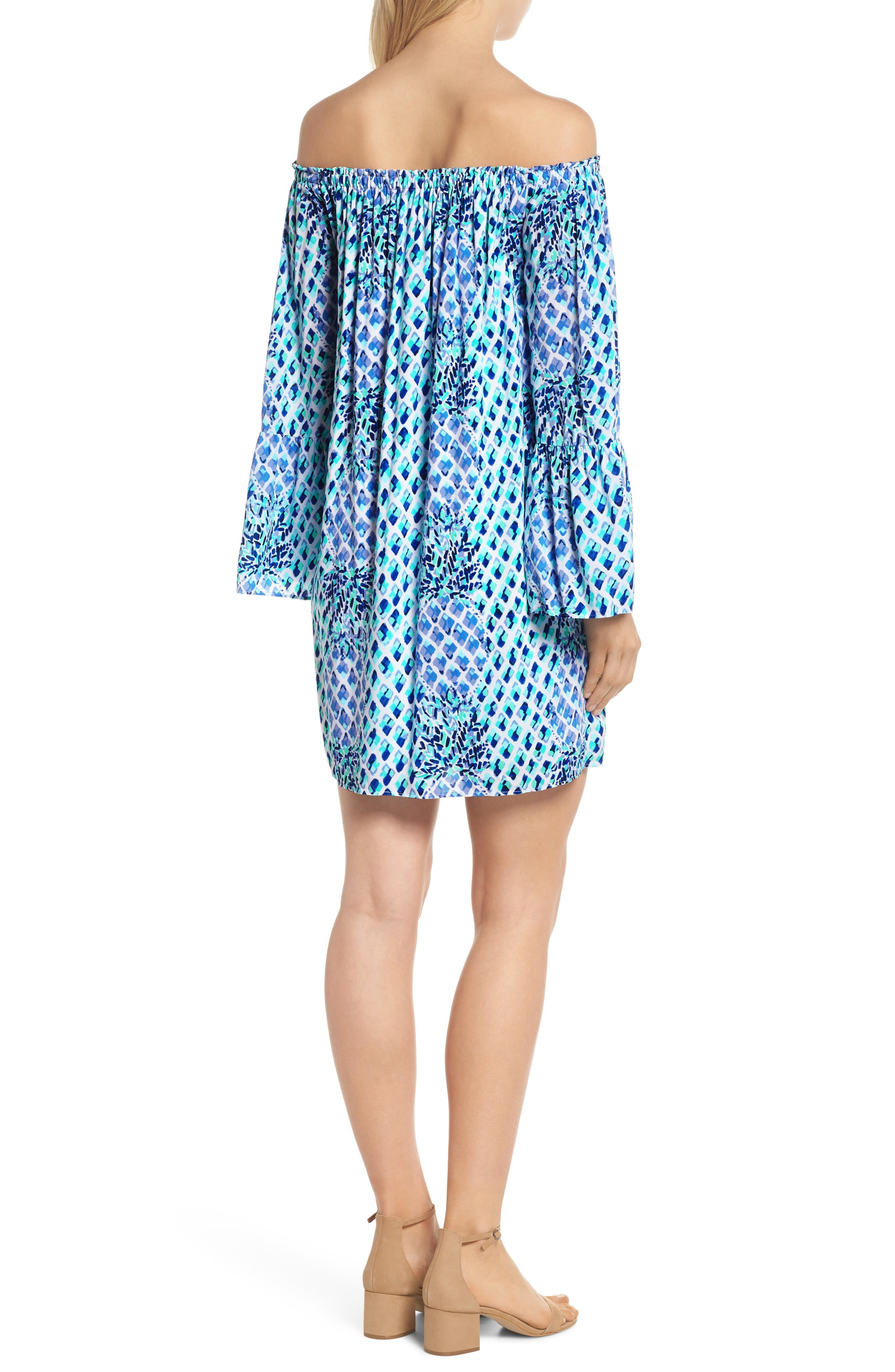 Lilly Pullitzer<sup>®</sup> Nevie Off the Shoulder Dress,                             Alternate thumbnail 2, color,