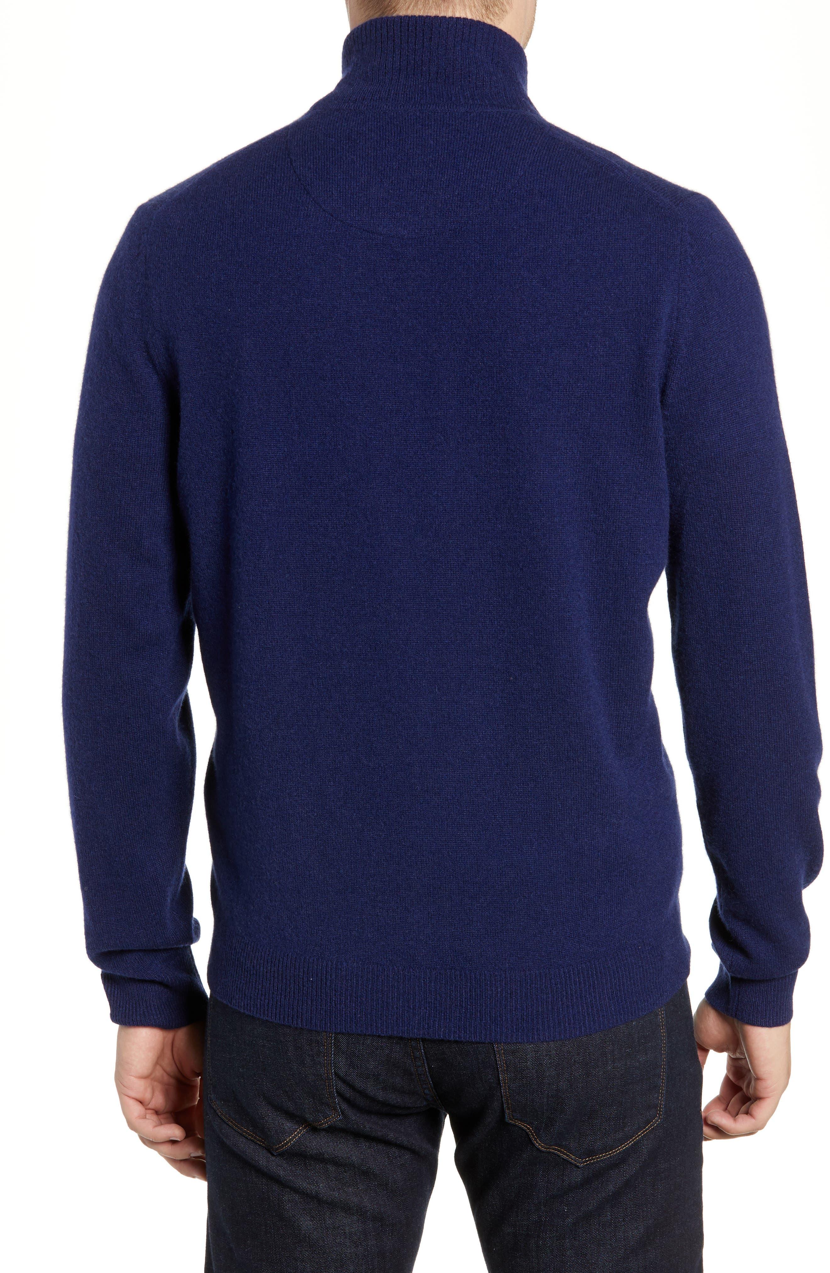 Cashmere Quarter Zip Sweater,                             Alternate thumbnail 2, color,                             410