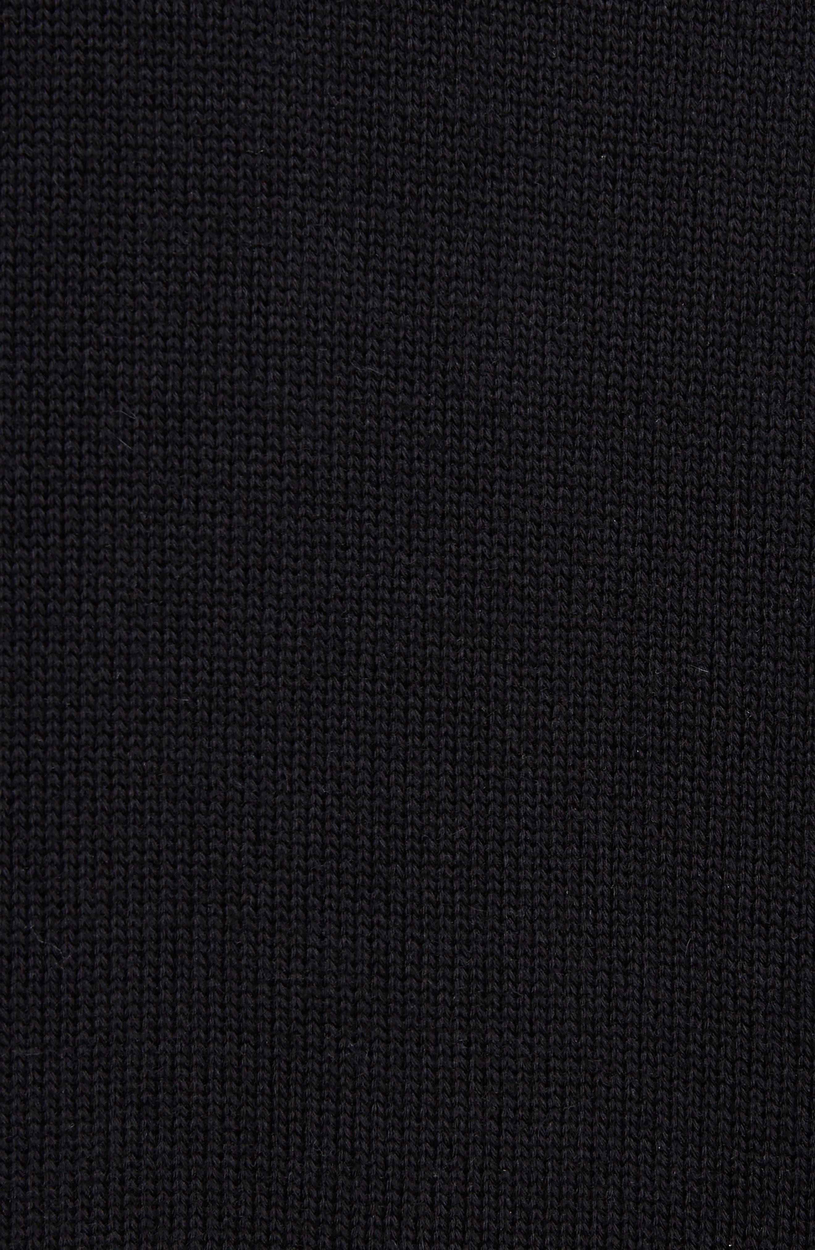 Leather Band Cotton & Cashmere Cardigan,                             Alternate thumbnail 5, color,