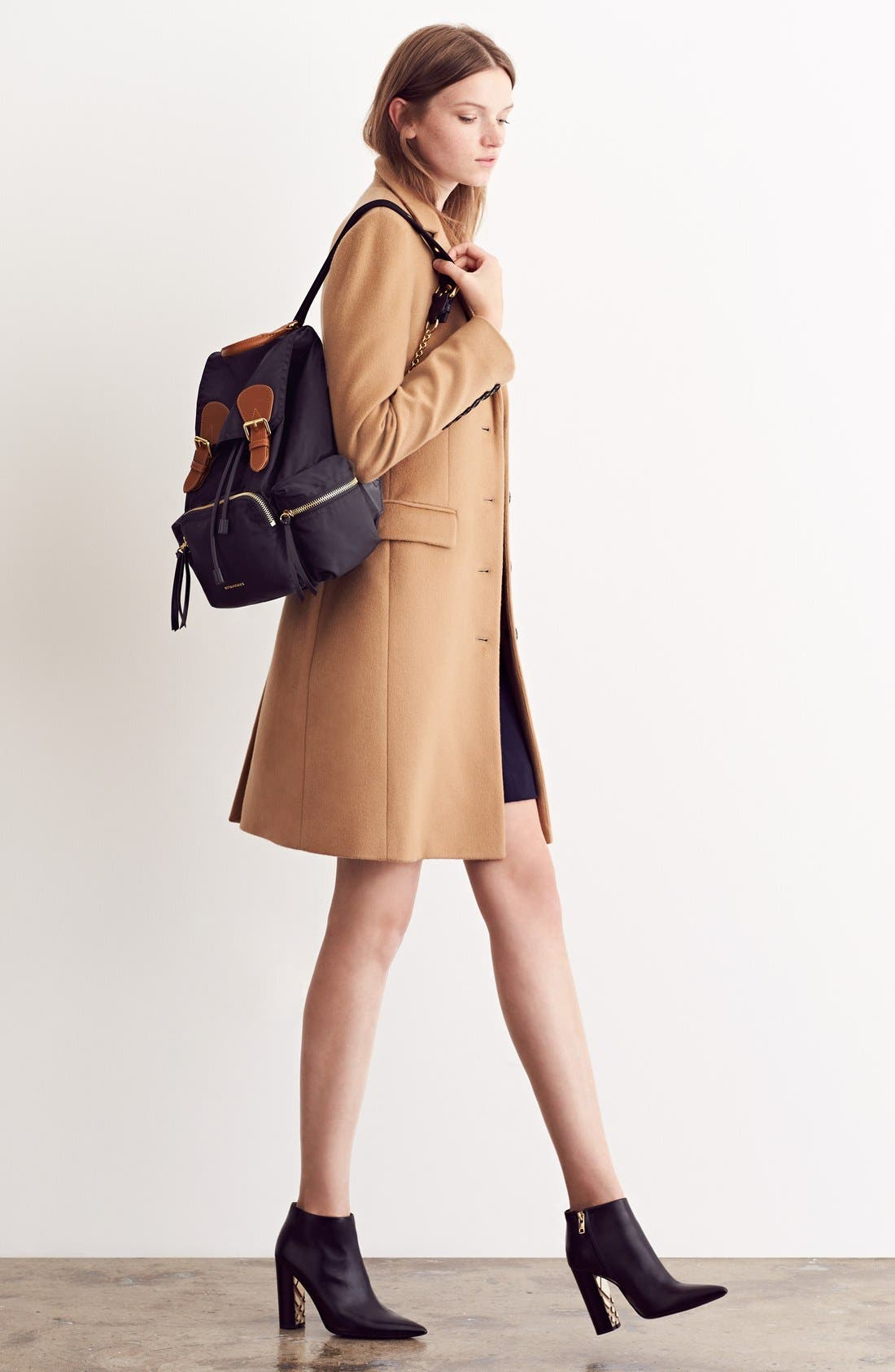 'Medium Runway Rucksack' Nylon Backpack,                             Alternate thumbnail 2, color,                             BLACK