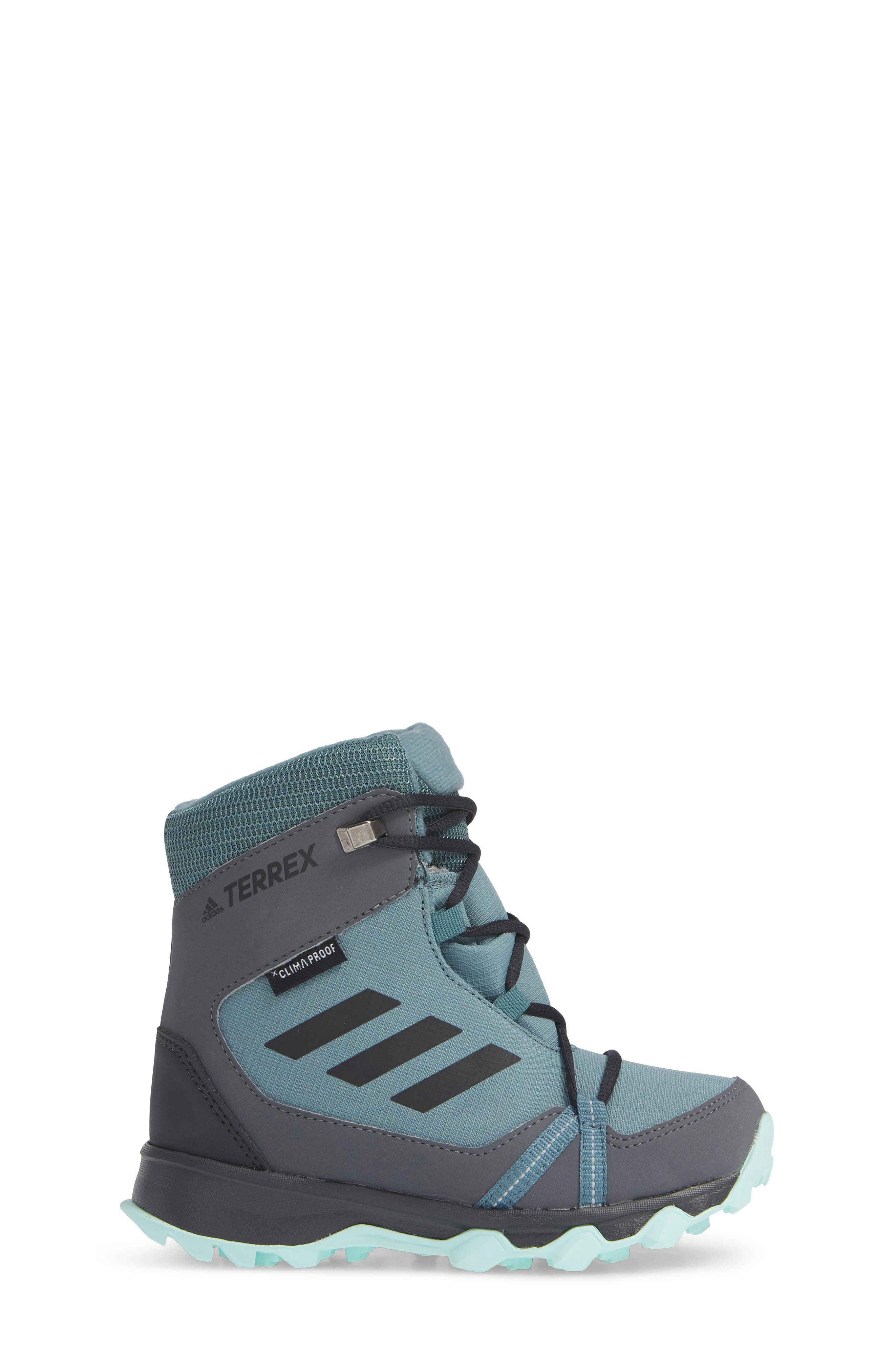 Terrex Snow CP CW Insulated Waterproof Sneaker Boot,                             Alternate thumbnail 3, color,                             CLEAR MINT/ CARBON/ AQUA