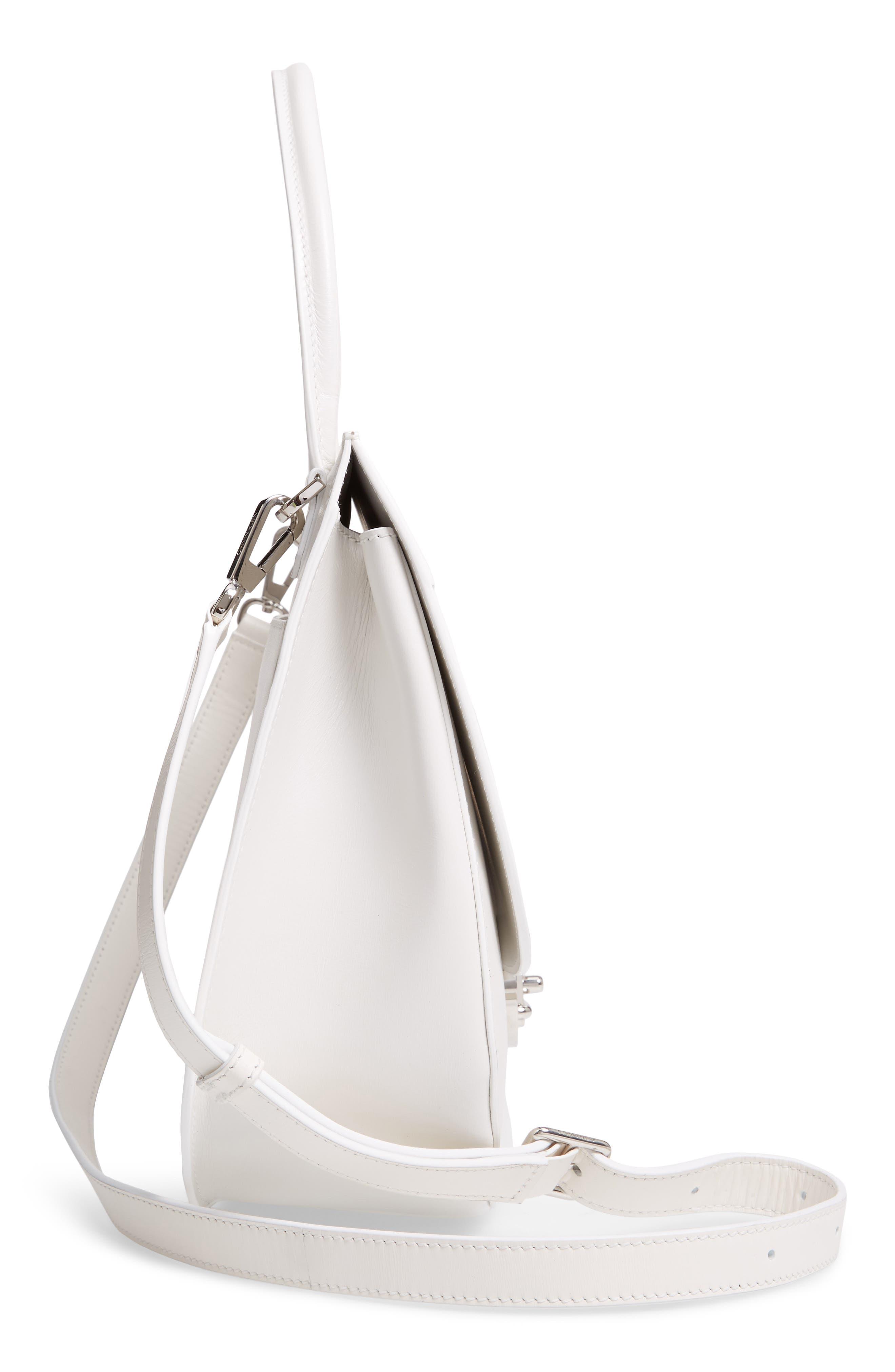 Top Handle Round Lock Shoulder Bag,                             Alternate thumbnail 5, color,                             101