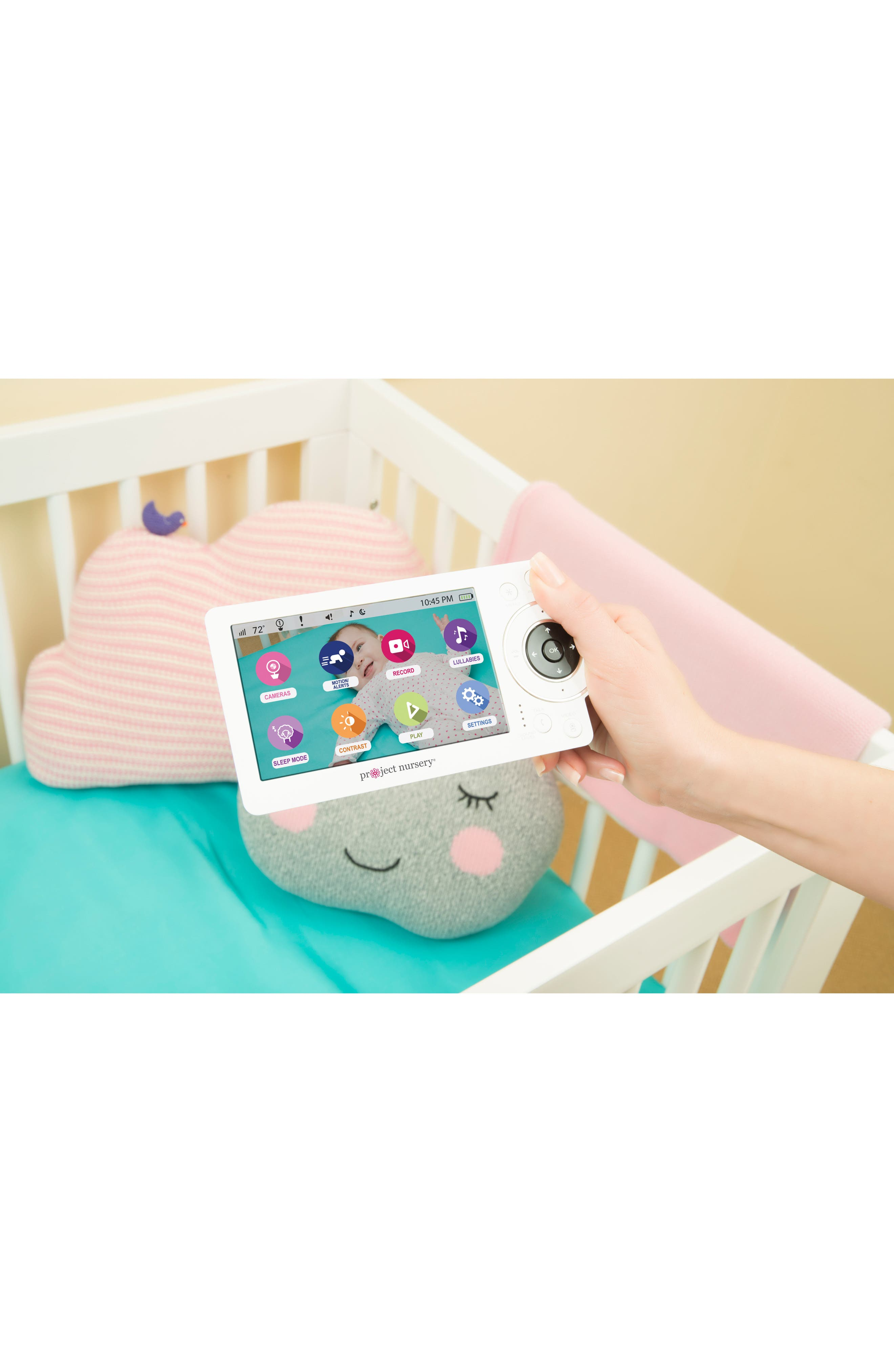 """5"""" High Definition Baby Monitor System with 1 1/2"""" Mini Monitor,                             Alternate thumbnail 5, color,                             100"""