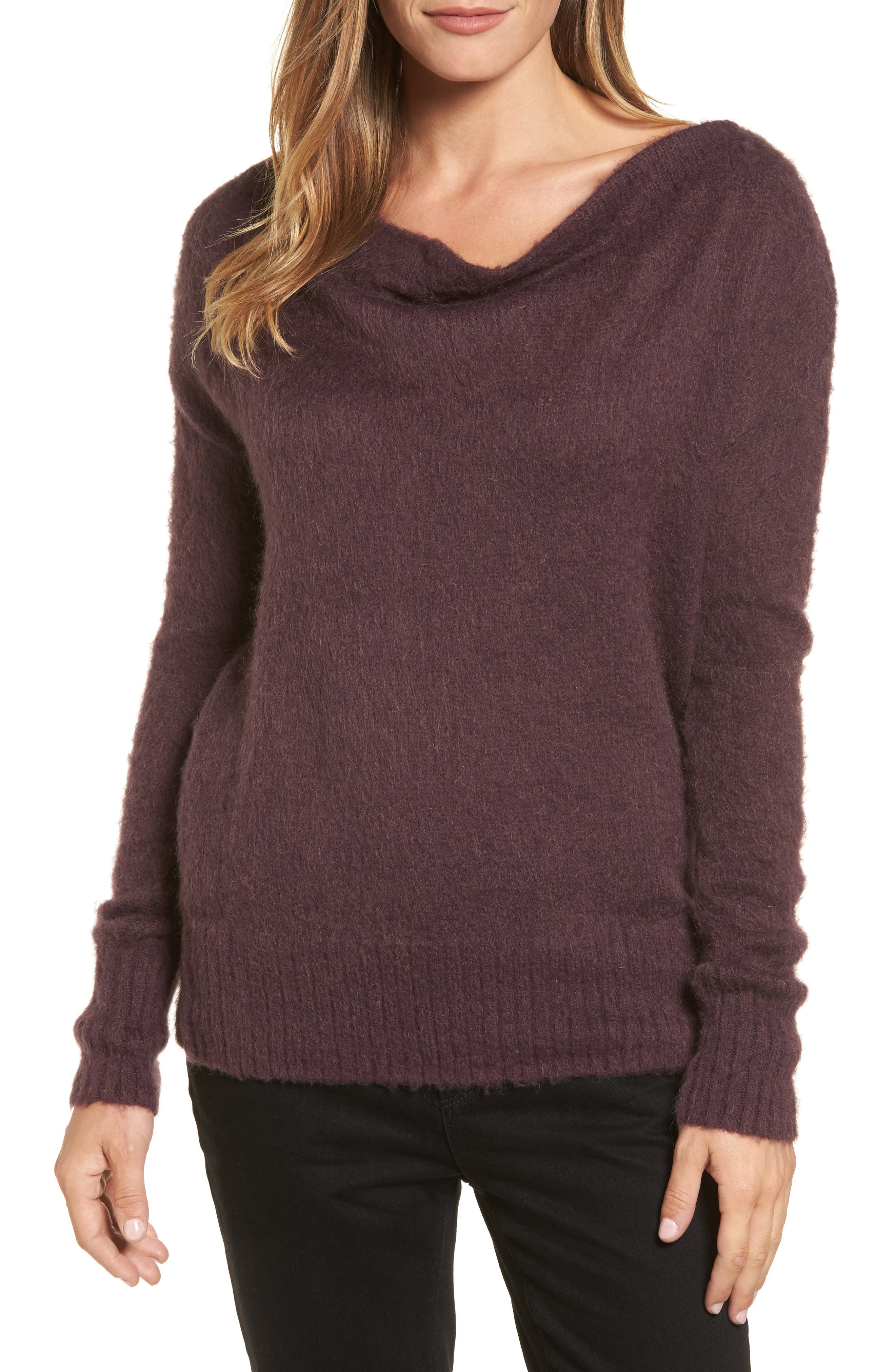 Long Sleeve Brushed Sweater,                             Main thumbnail 4, color,