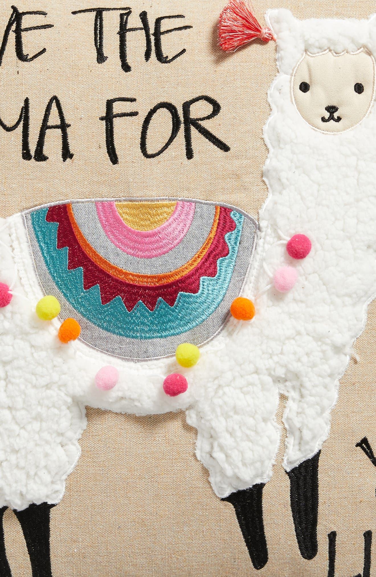 Save the Drama For Your Llama Pillow,                             Alternate thumbnail 3, color,                             250