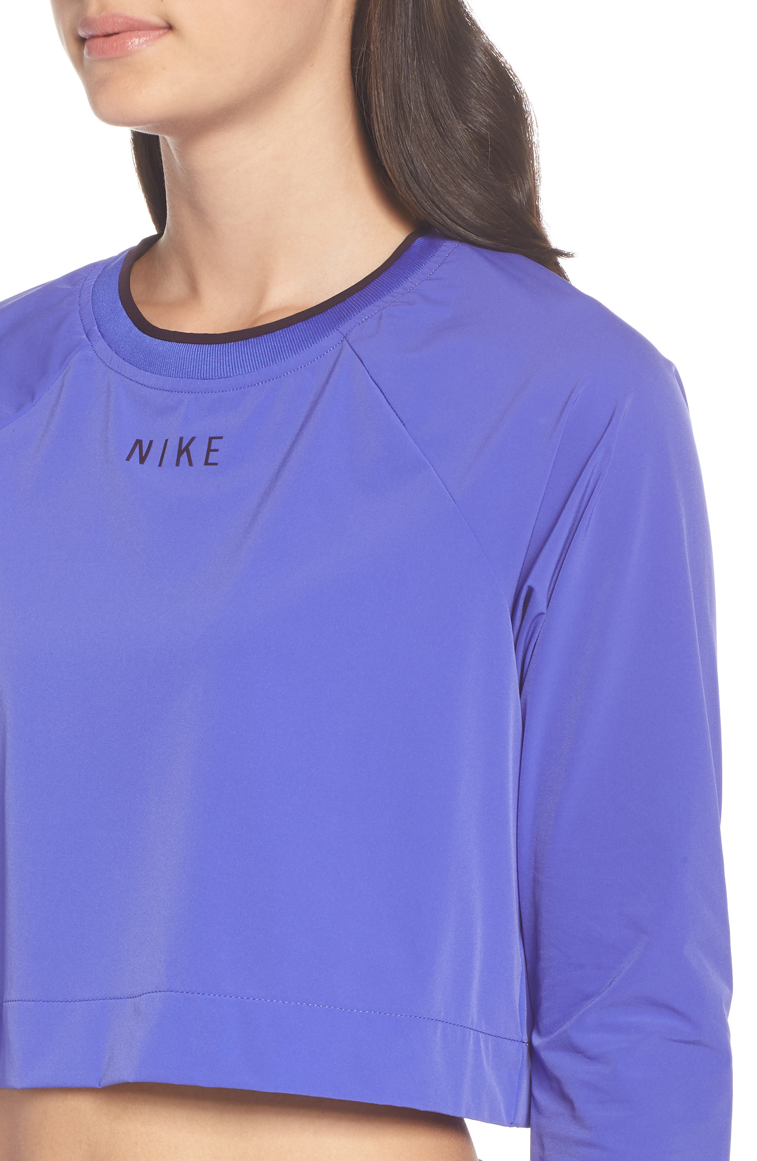 Sportswear Tech Pack Women's Long Sleeve Top,                             Alternate thumbnail 4, color,                             PERSIAN VIOLET/ BURGUNDY ASH