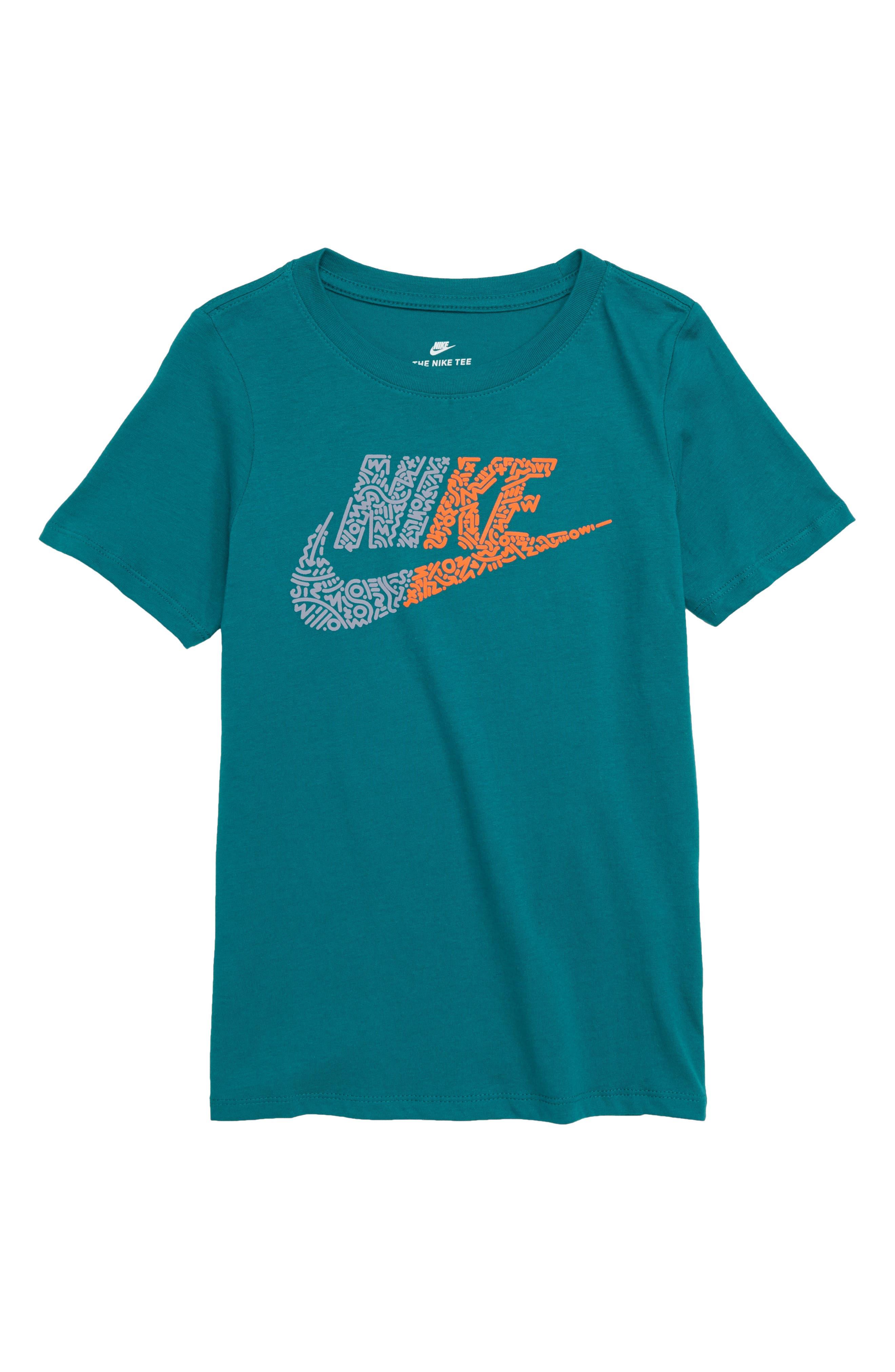Sportswear Futura T-Shirt,                         Main,                         color, GEODE TEAL/ ASHEN SLATE