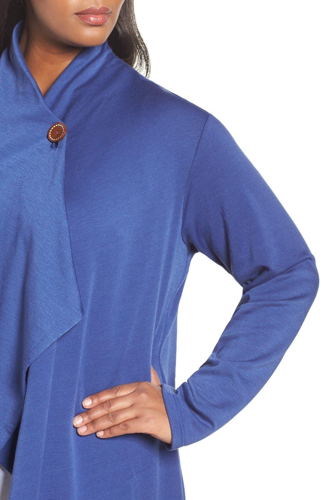 One-Button Fleece Cardigan,                             Alternate thumbnail 157, color,