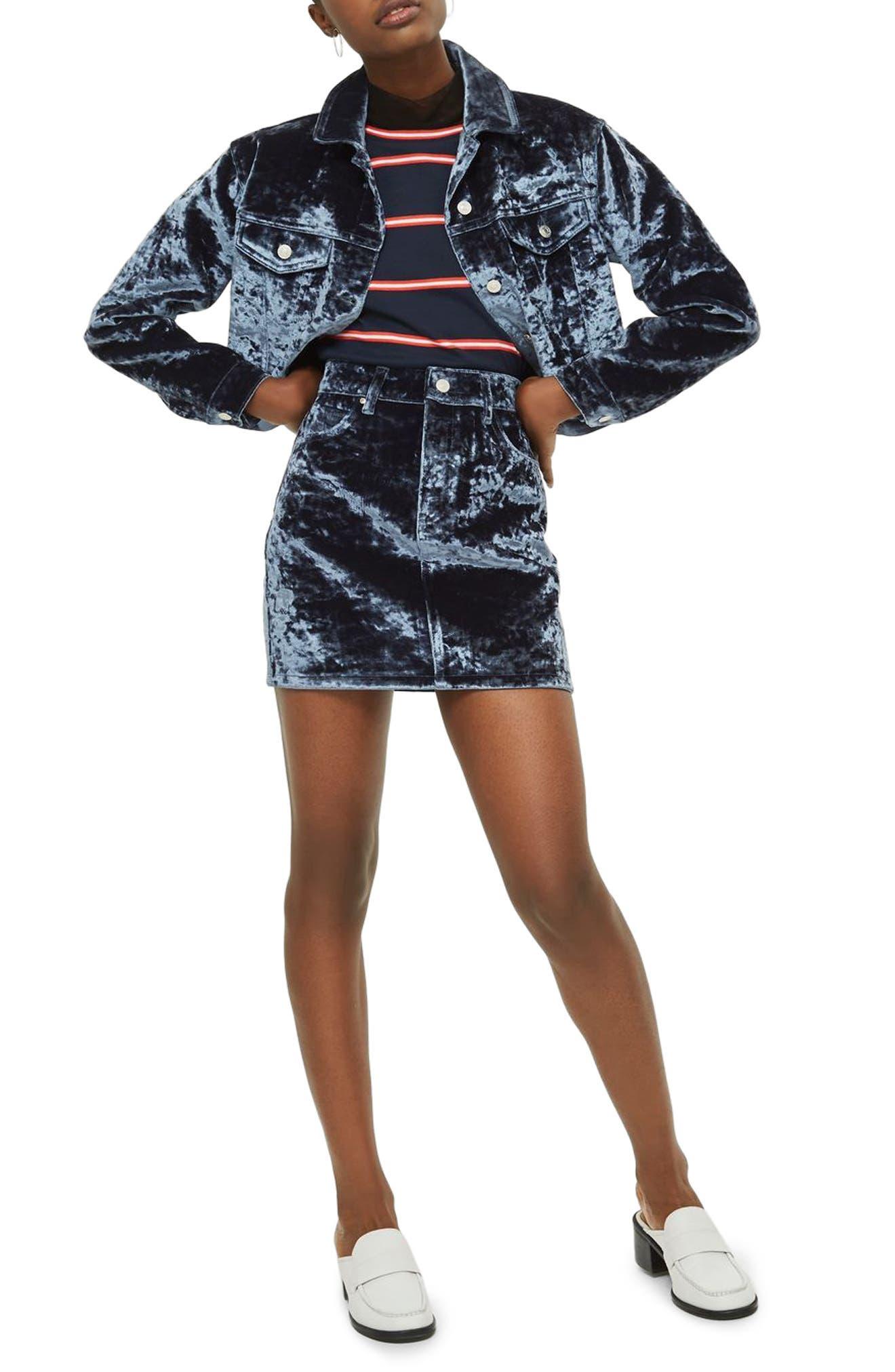 Bonded Velvet Jacket,                         Main,                         color,