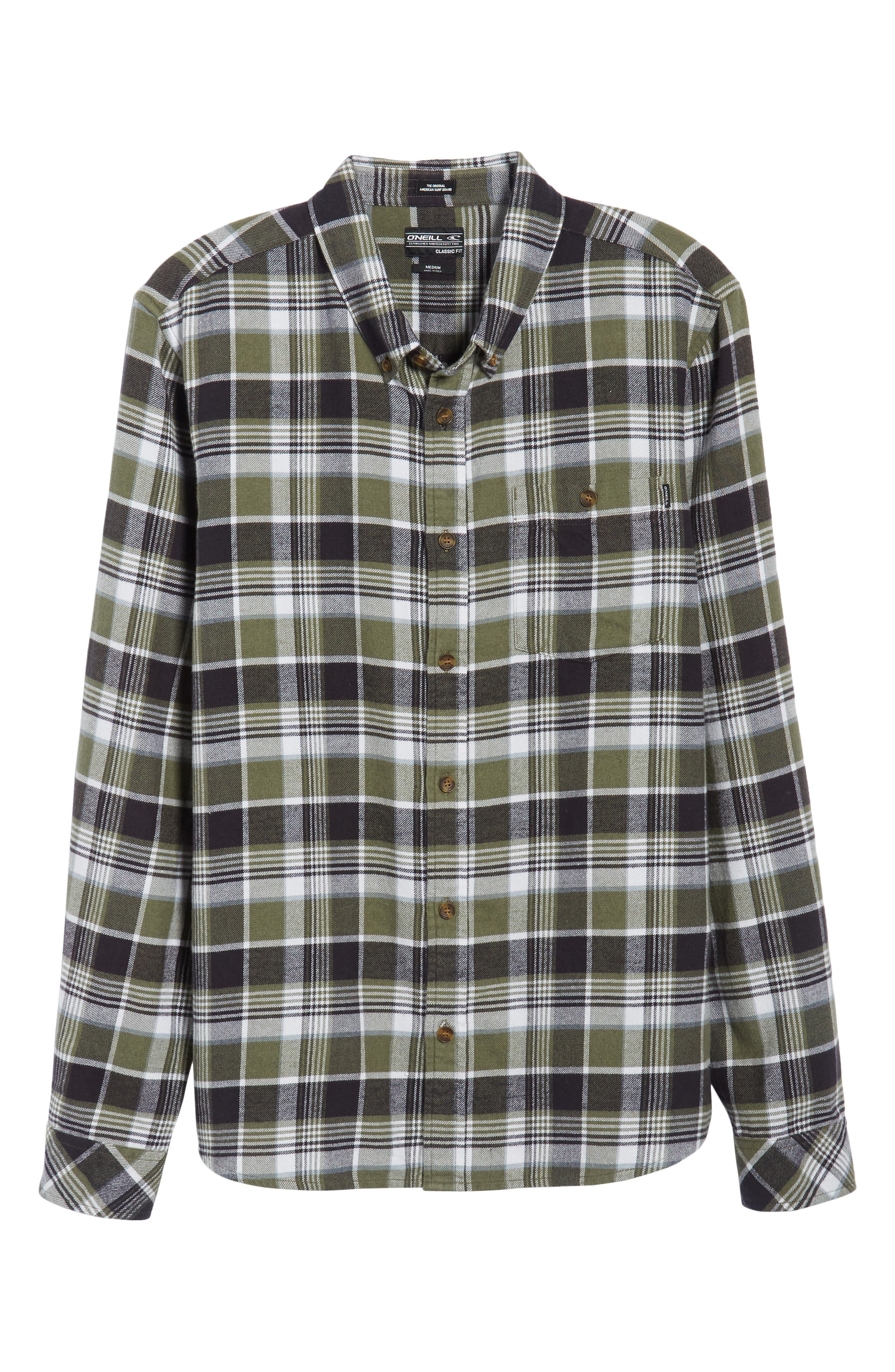 Redmond Regular Fit Plaid Flannel Shirt,                             Alternate thumbnail 6, color,                             301