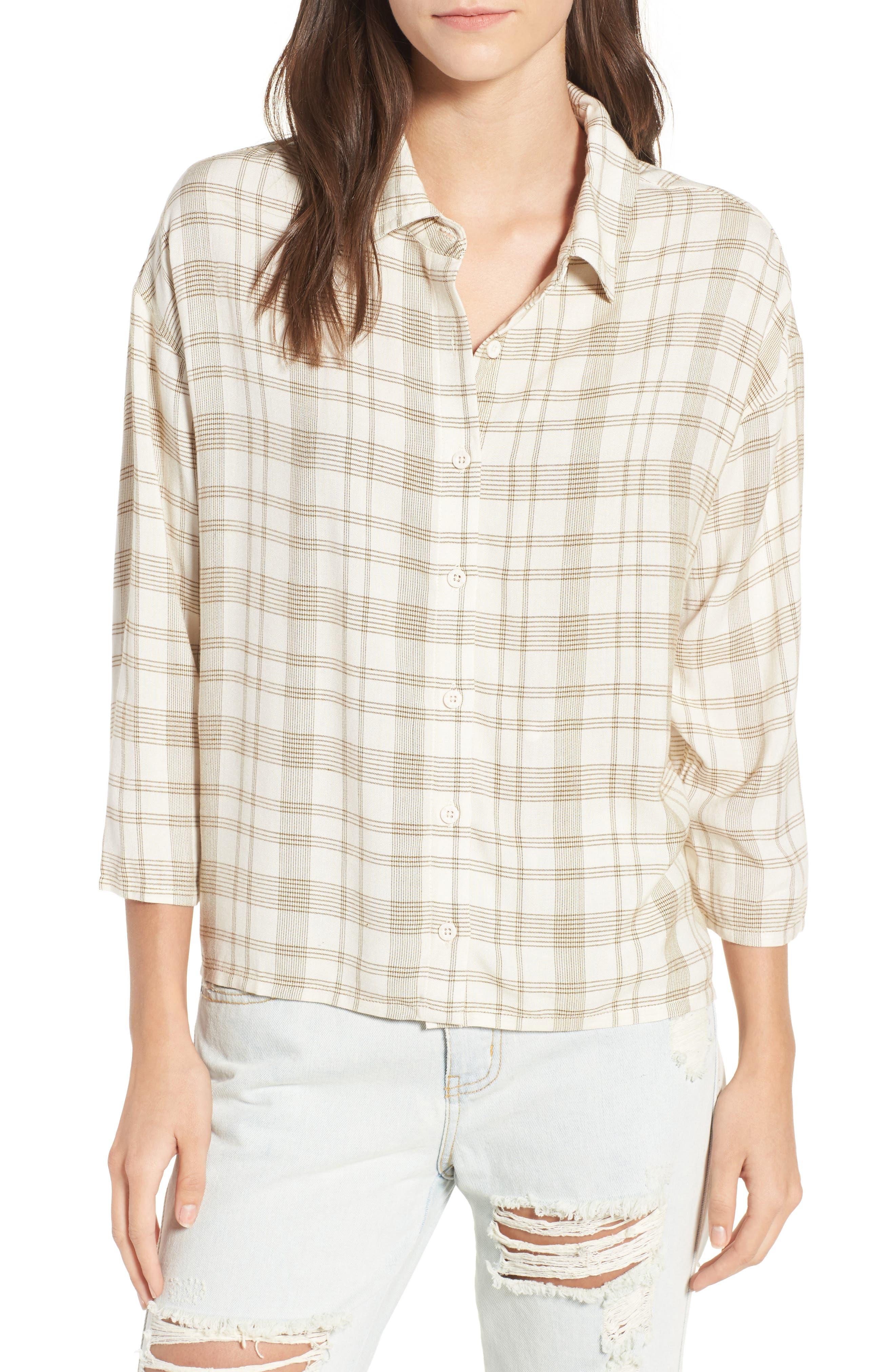 Drift Away Plaid Shirt,                         Main,                         color, 250