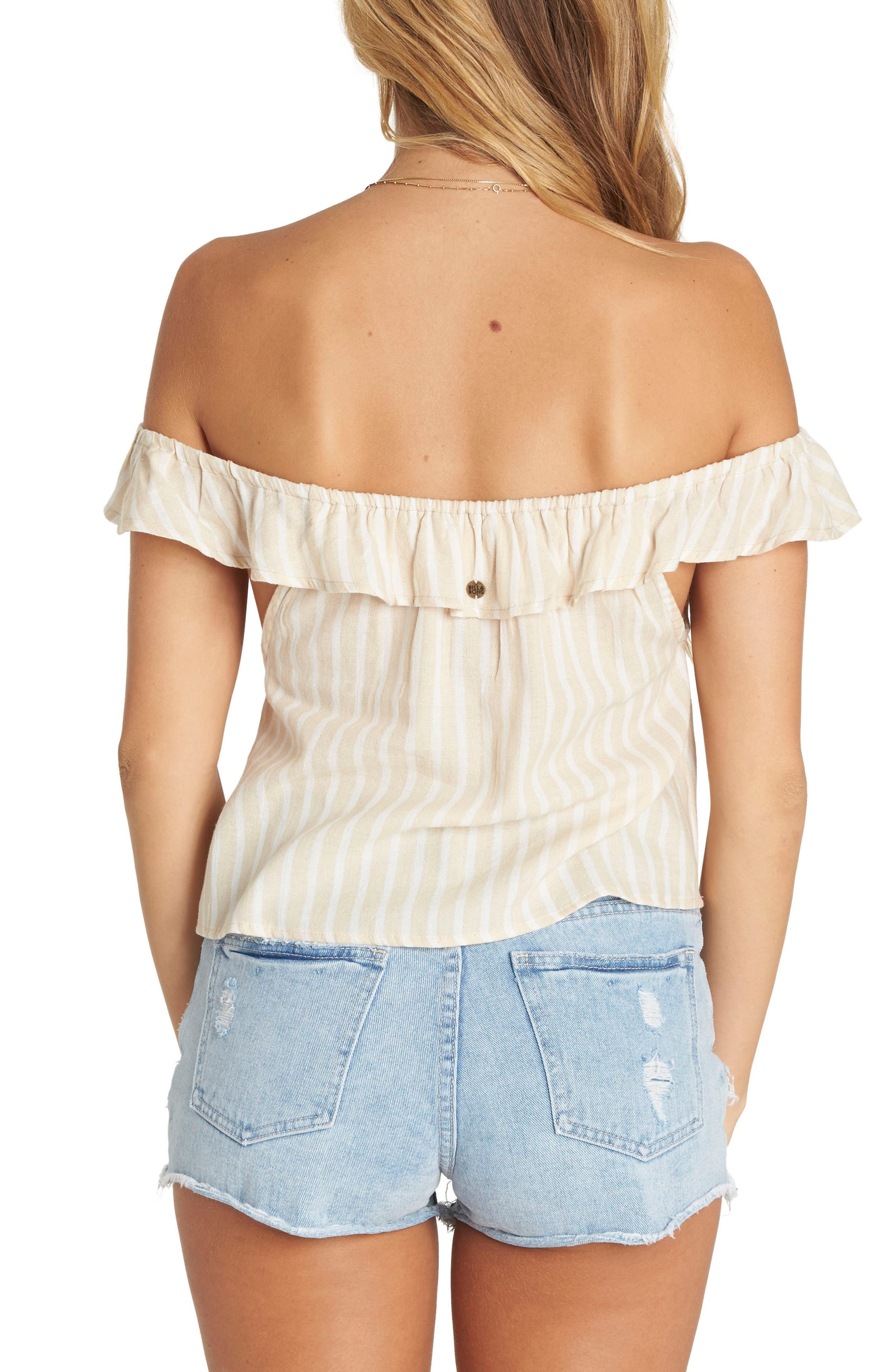 Peach Kisses Off the Shoulder Top,                             Alternate thumbnail 2, color,                             250
