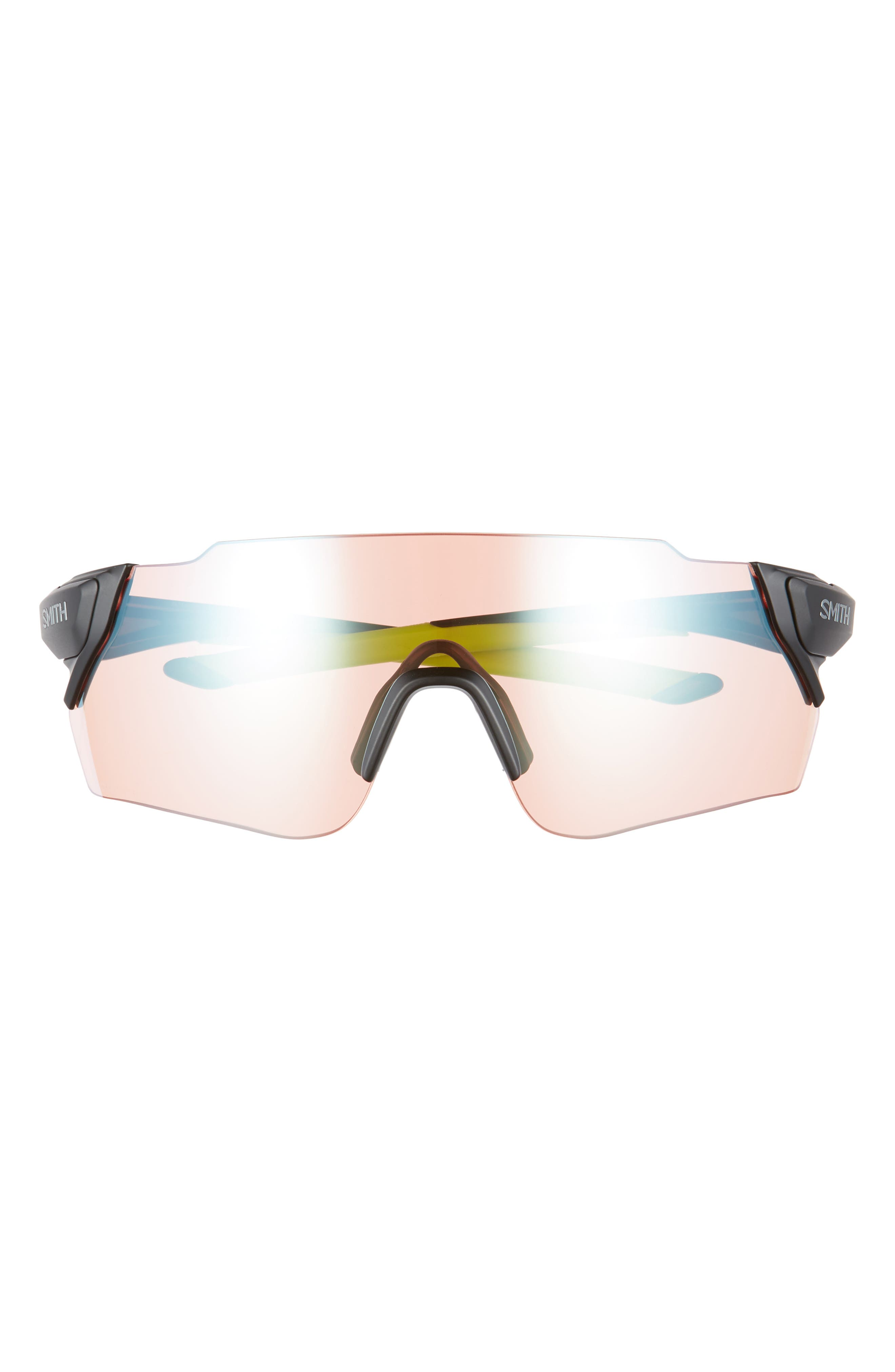 Attack Max 130mm ChromaPop<sup>™</sup> Shield Sunglasses,                             Alternate thumbnail 3, color,                             MATTE BLACK REACTOR
