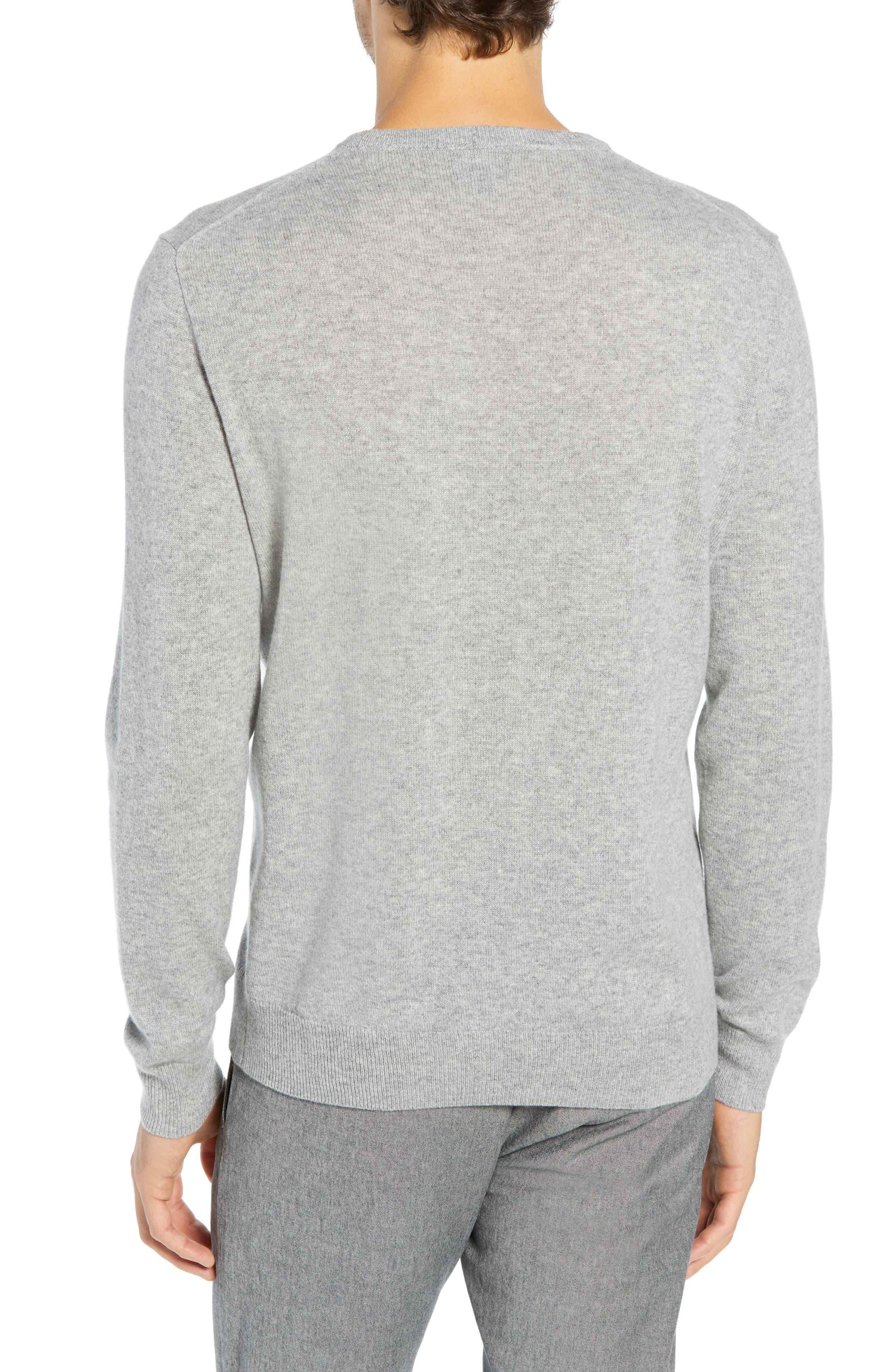 Everyday Cashmere Regular Fit Crewneck Sweater,                             Alternate thumbnail 2, color,                             HEATHER GREY
