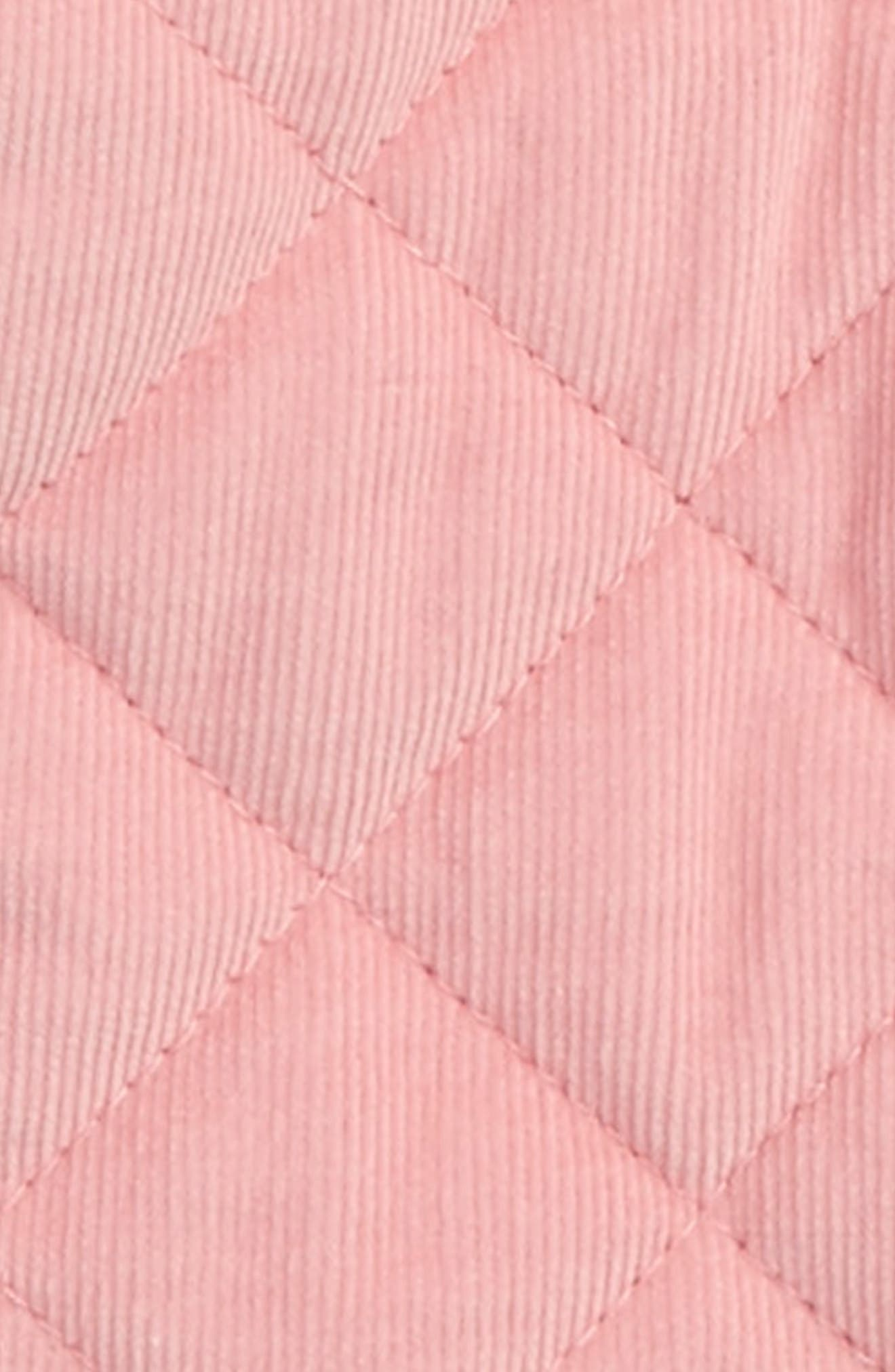 Pretty Quilted Corduroy Hooded Jacket,                             Alternate thumbnail 4, color,
