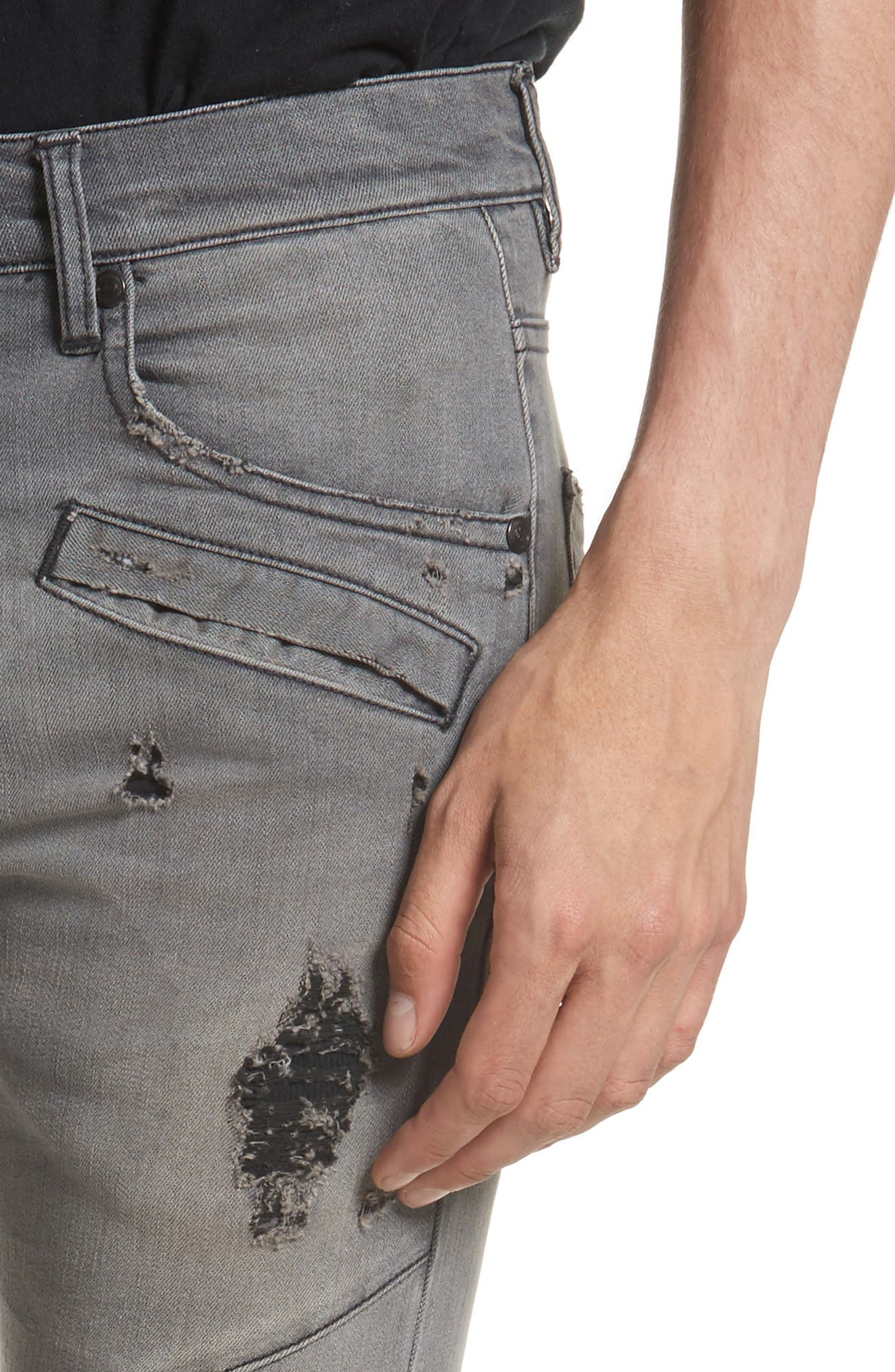 Distressed Moto Jeans,                             Alternate thumbnail 5, color,