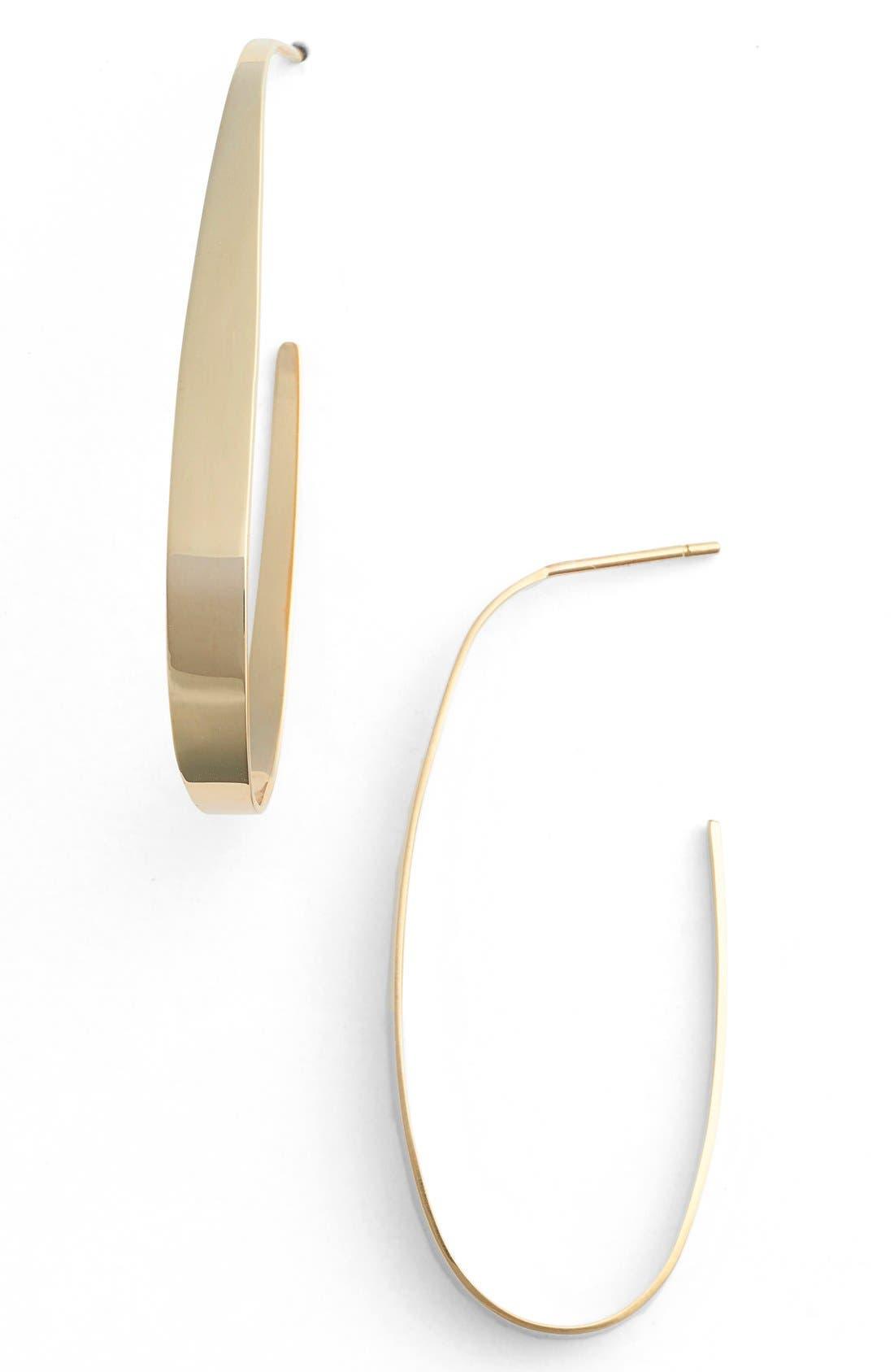 Oval Hoop Earrings,                             Main thumbnail 1, color,                             710