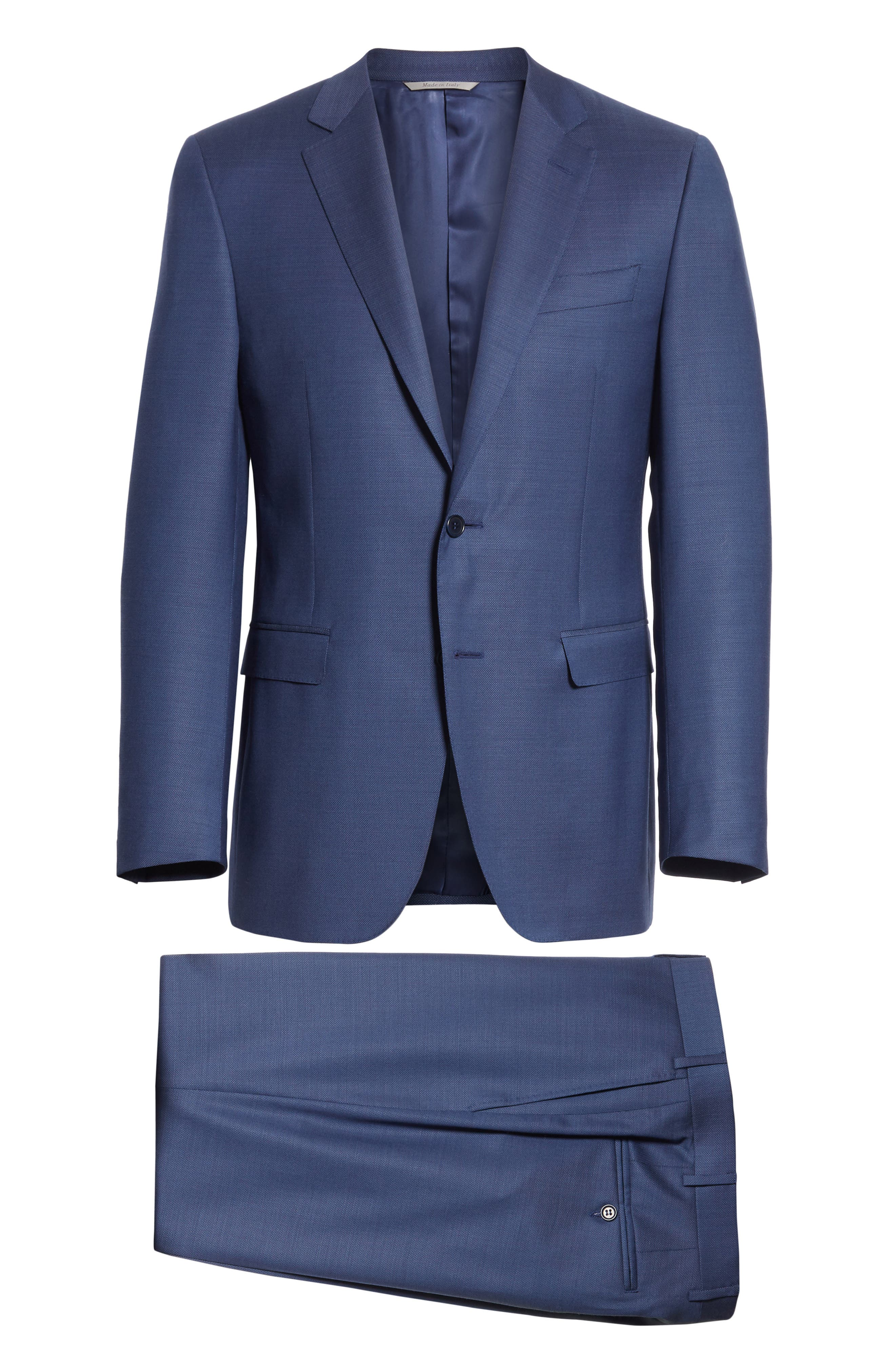 Classic Fit Solid Wool Suit,                             Alternate thumbnail 8, color,