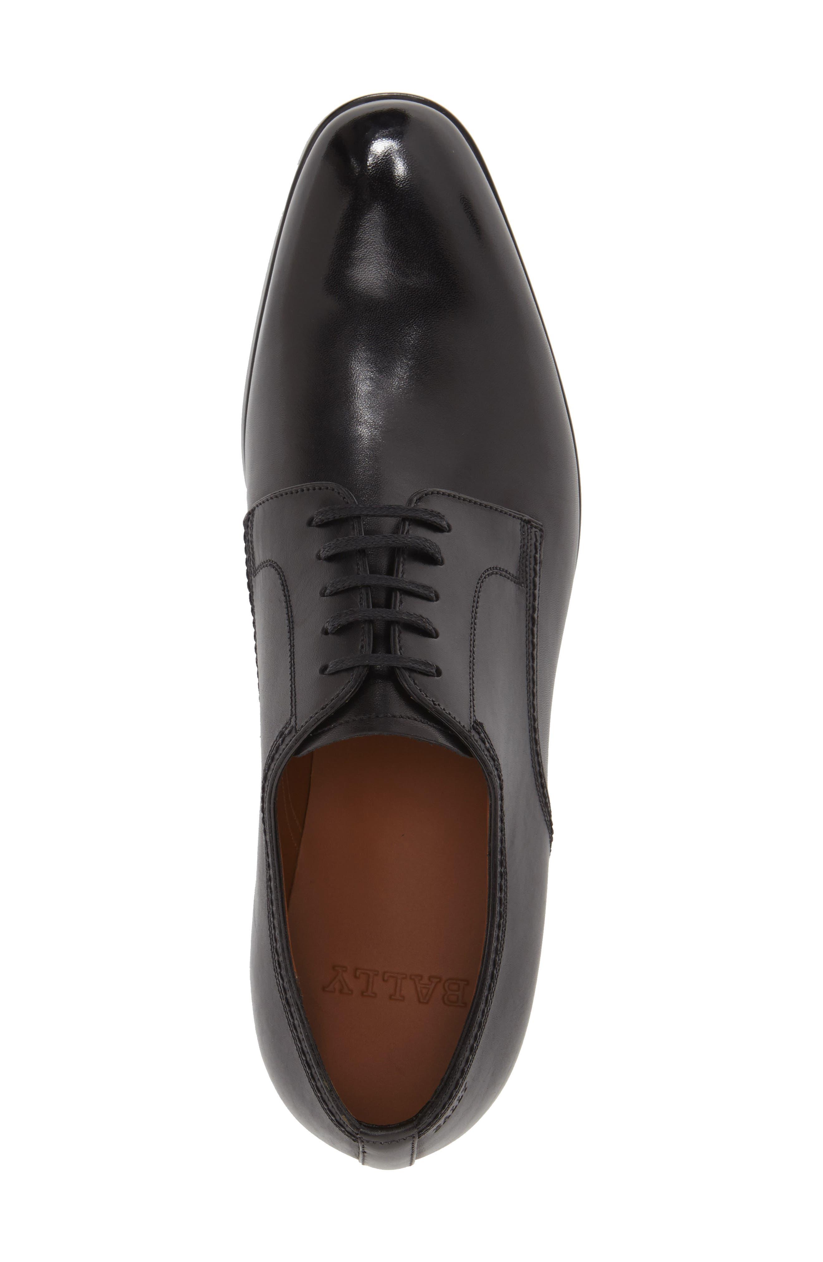 'Latour' Plain Toe Derby,                             Alternate thumbnail 4, color,                             001