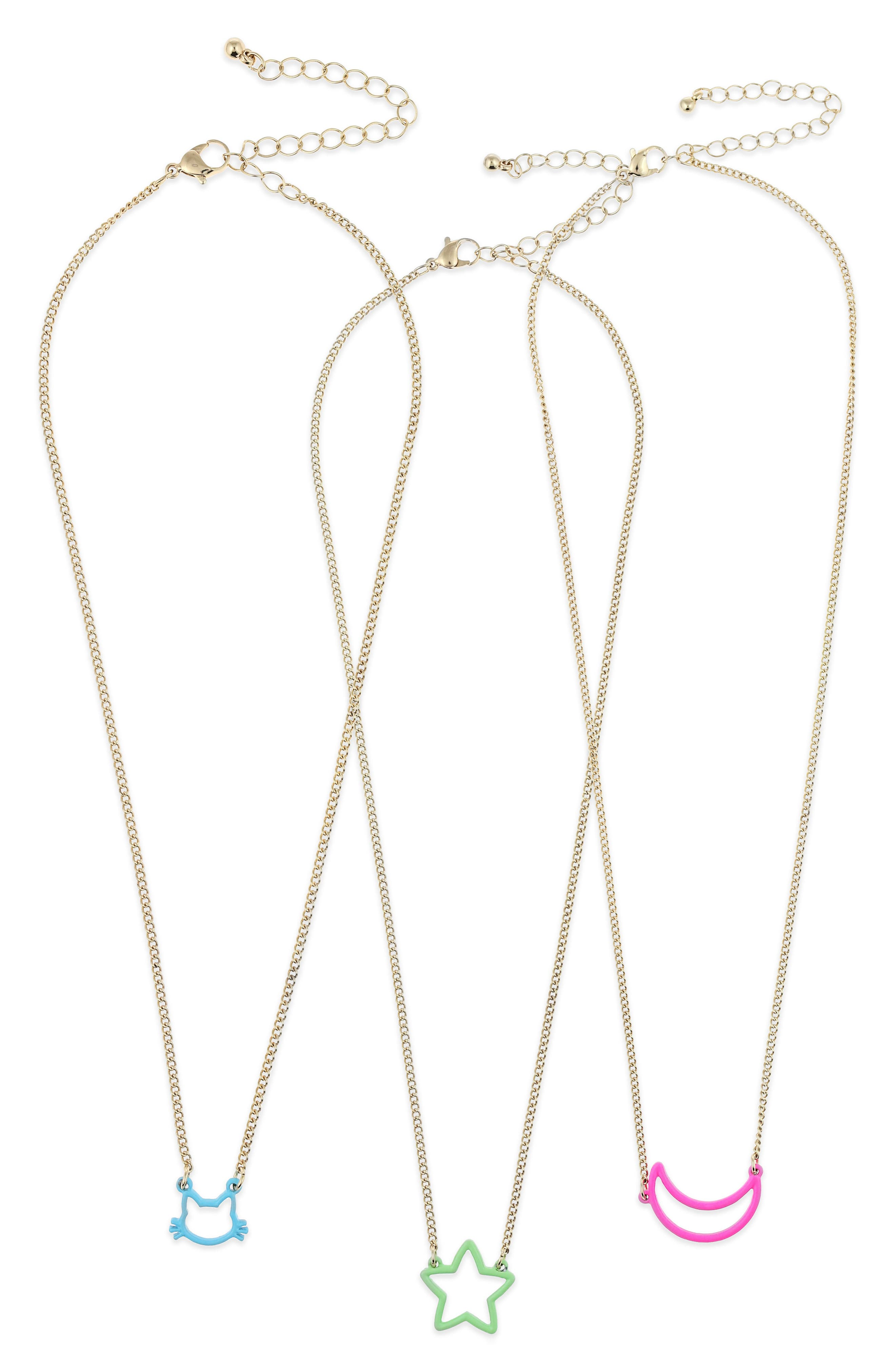 3-Pack BFF Necklace Set,                             Main thumbnail 1, color,                             711