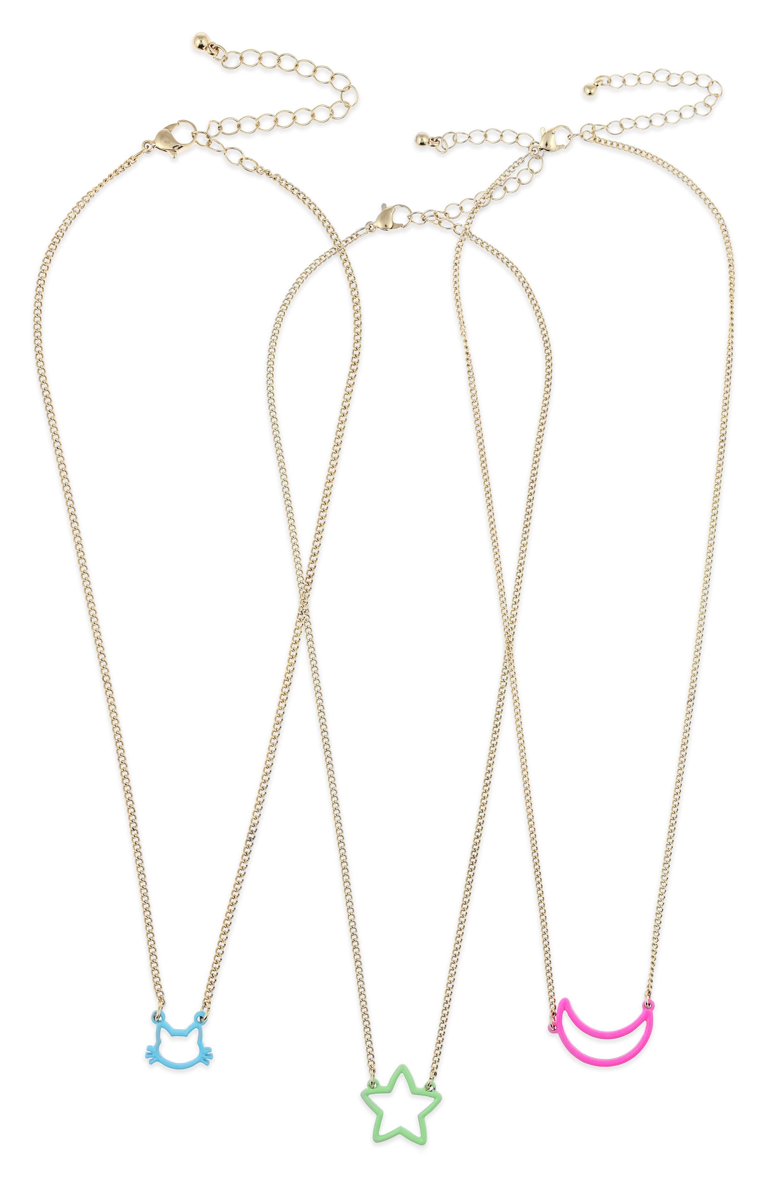 3-Pack BFF Necklace Set,                         Main,                         color, 711