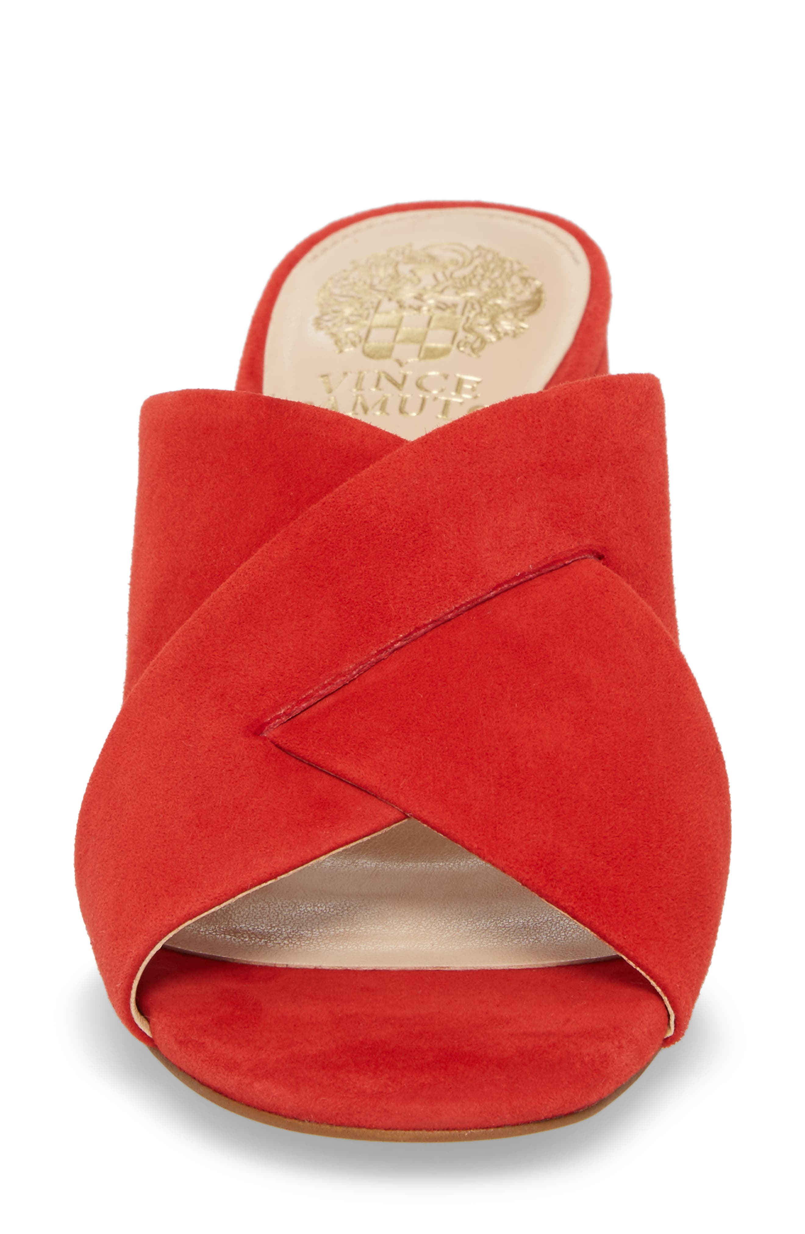 Stania Sandal,                             Alternate thumbnail 4, color,                             RED HOT RIO SUEDE