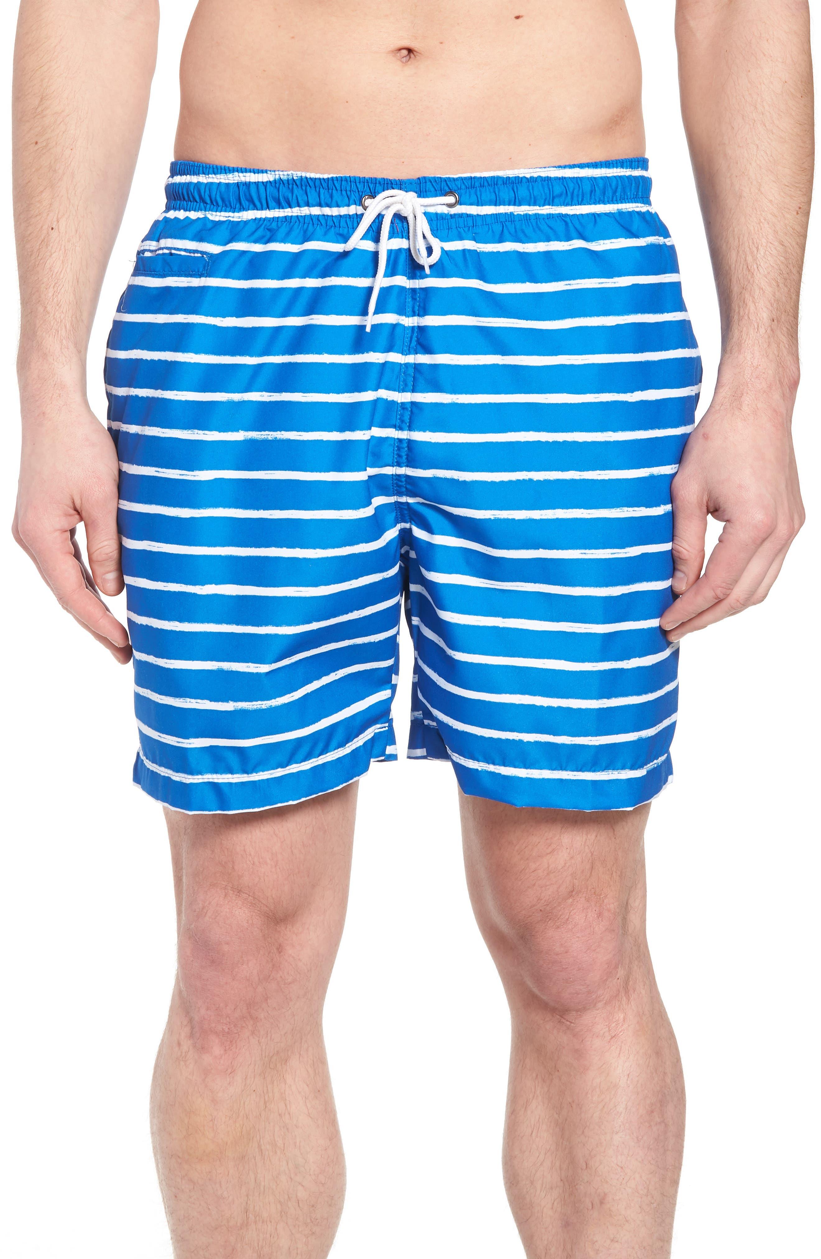 San O Stripe Swim Trunks,                             Main thumbnail 1, color,                             416