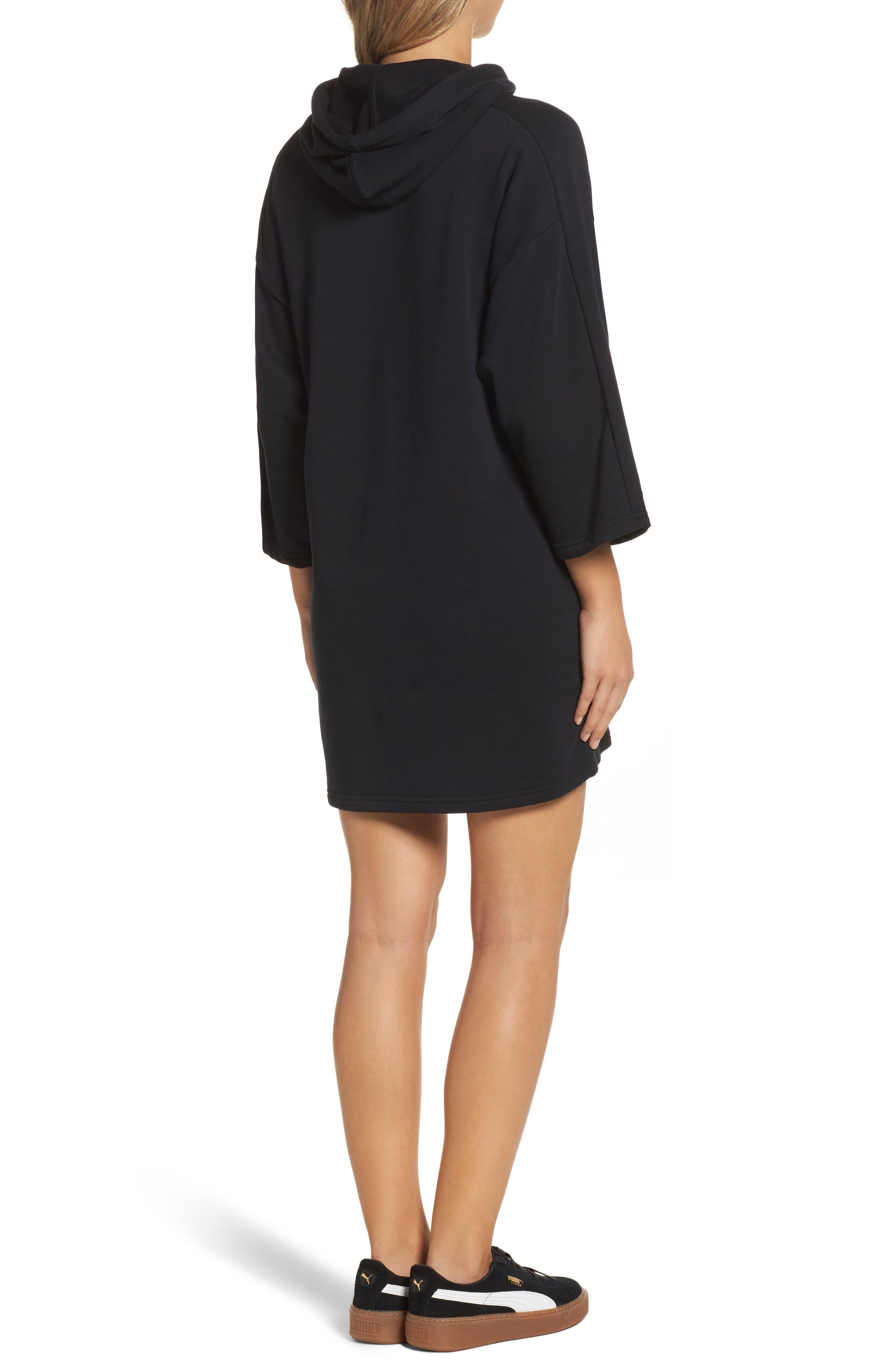 Glam Oversize Hooded Dress,                             Alternate thumbnail 2, color,                             001