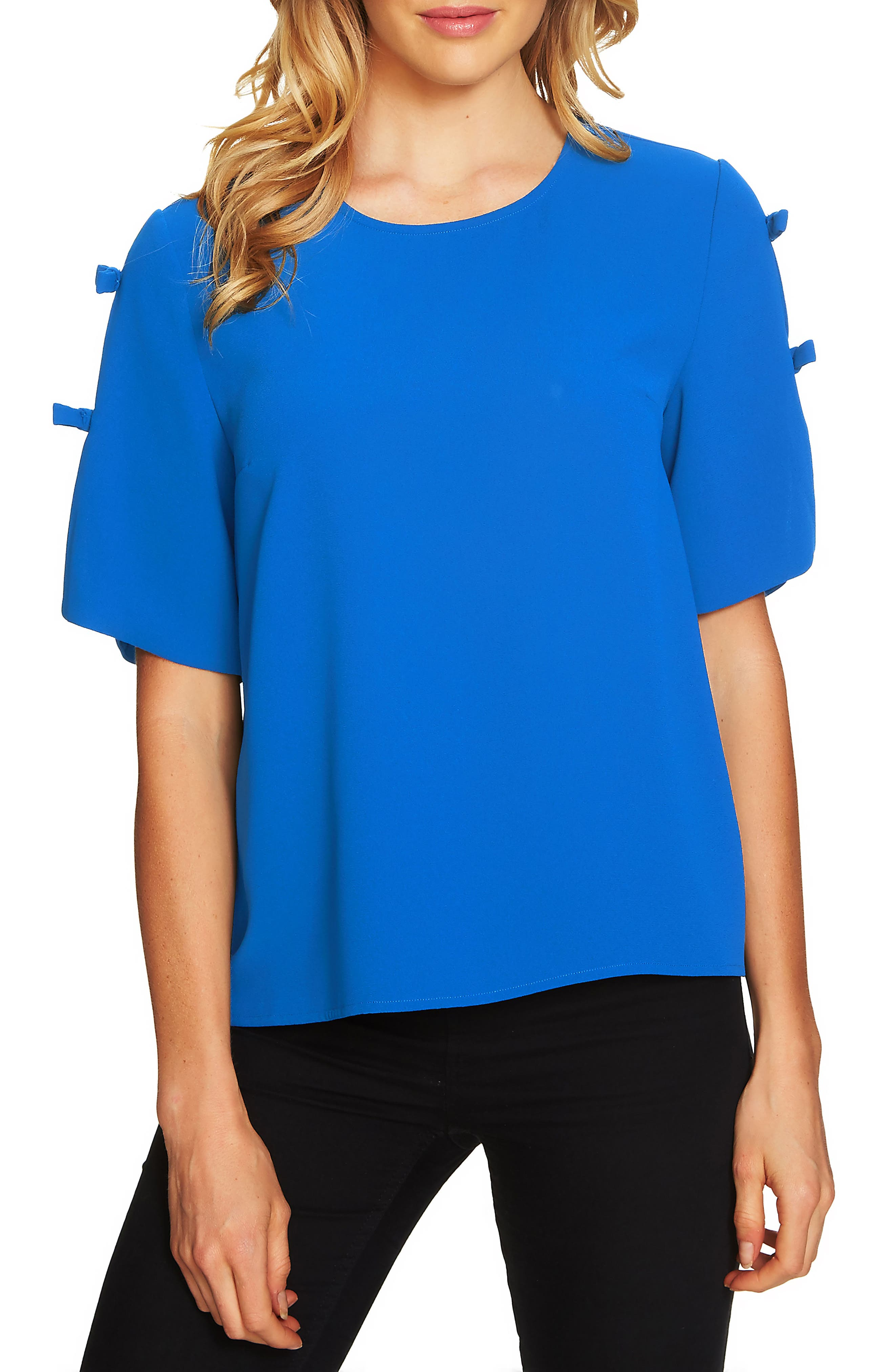 Split Sleeve Moss Crepe Blouse,                             Main thumbnail 1, color,                             418